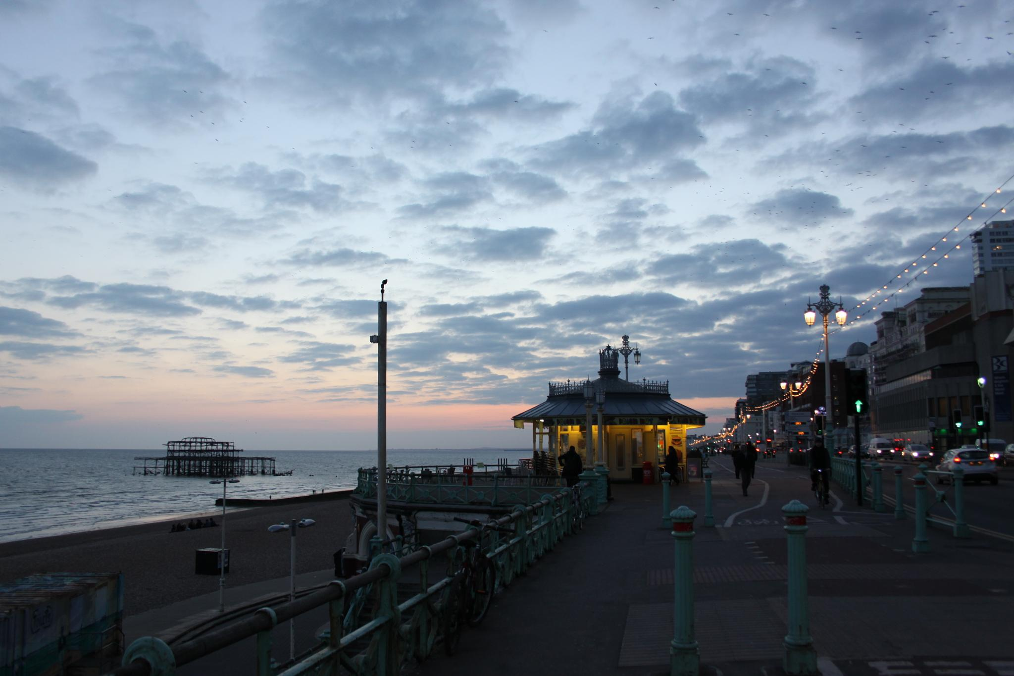 evening colors over Brighton by Micala Zita