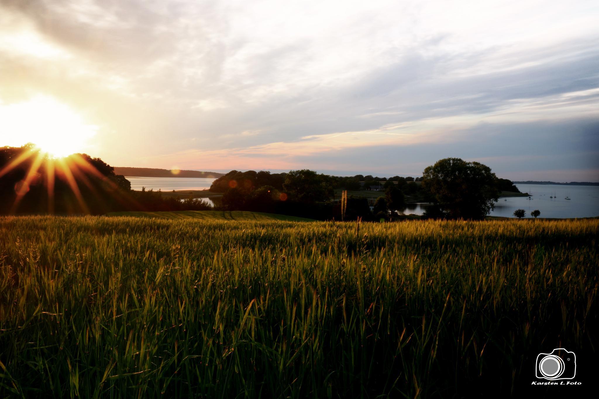 A sunset by Karsten Larsen
