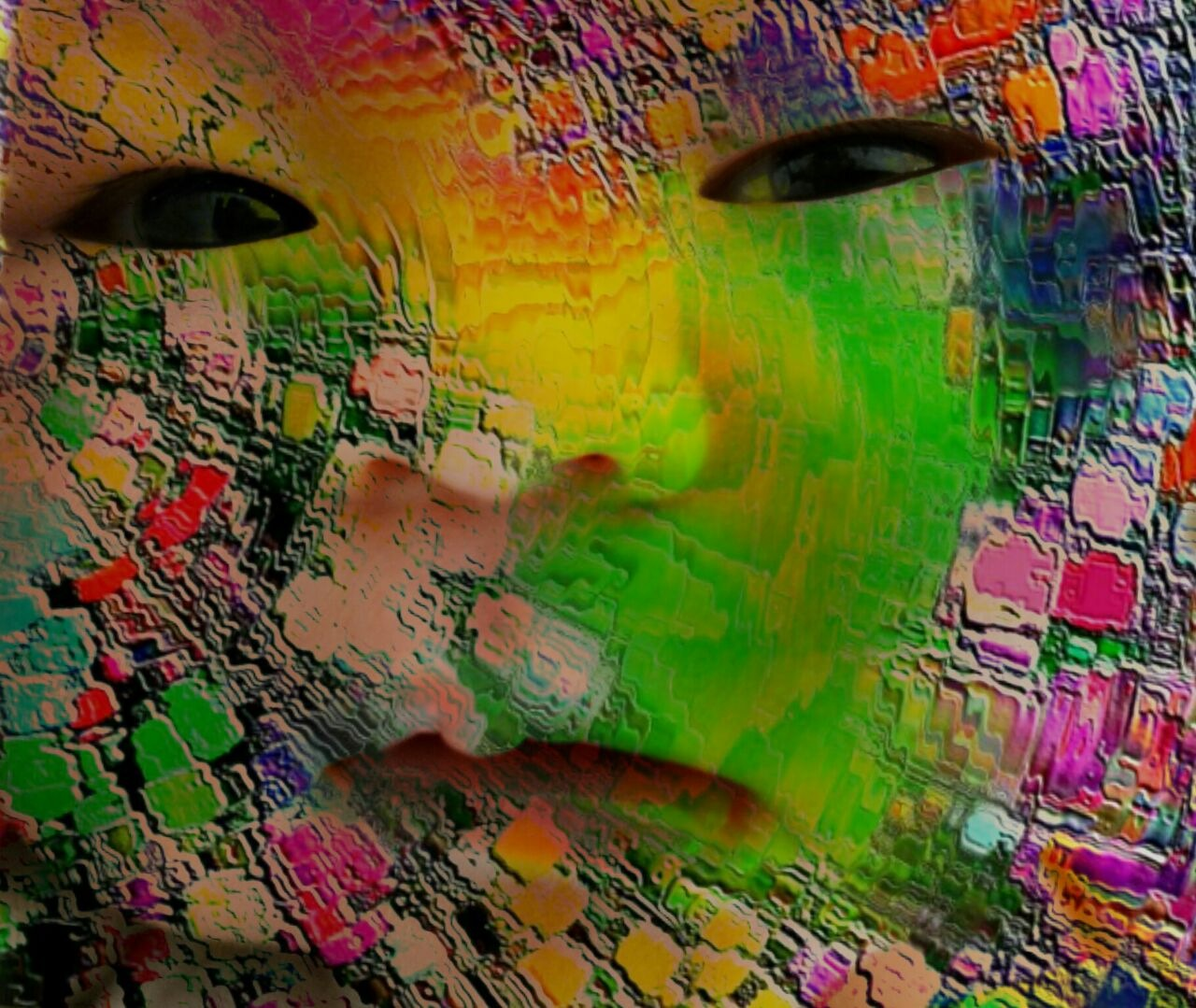 Baby face abstract by mijil.kresno