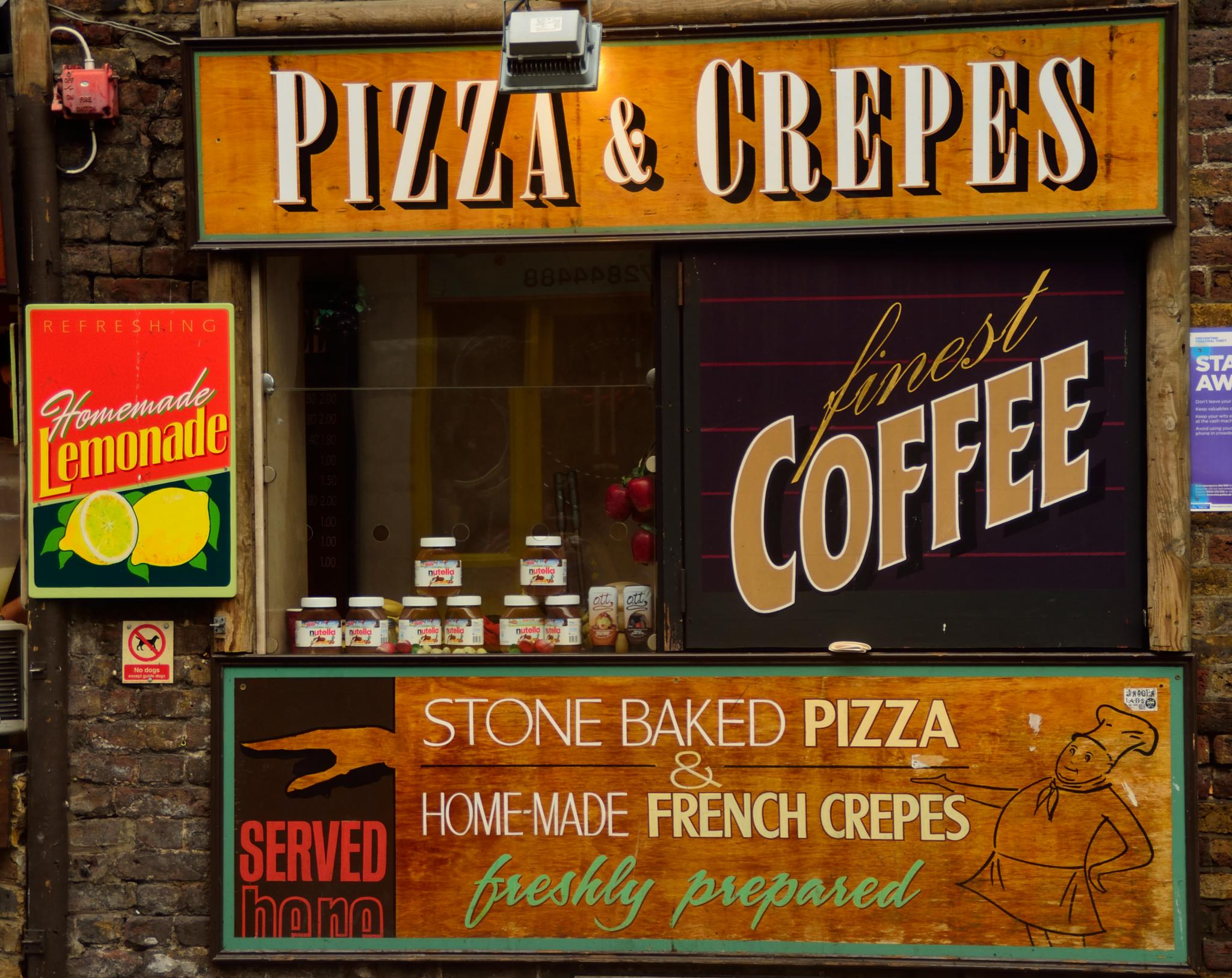 Pizza and Coffee by Vagn Arvesen