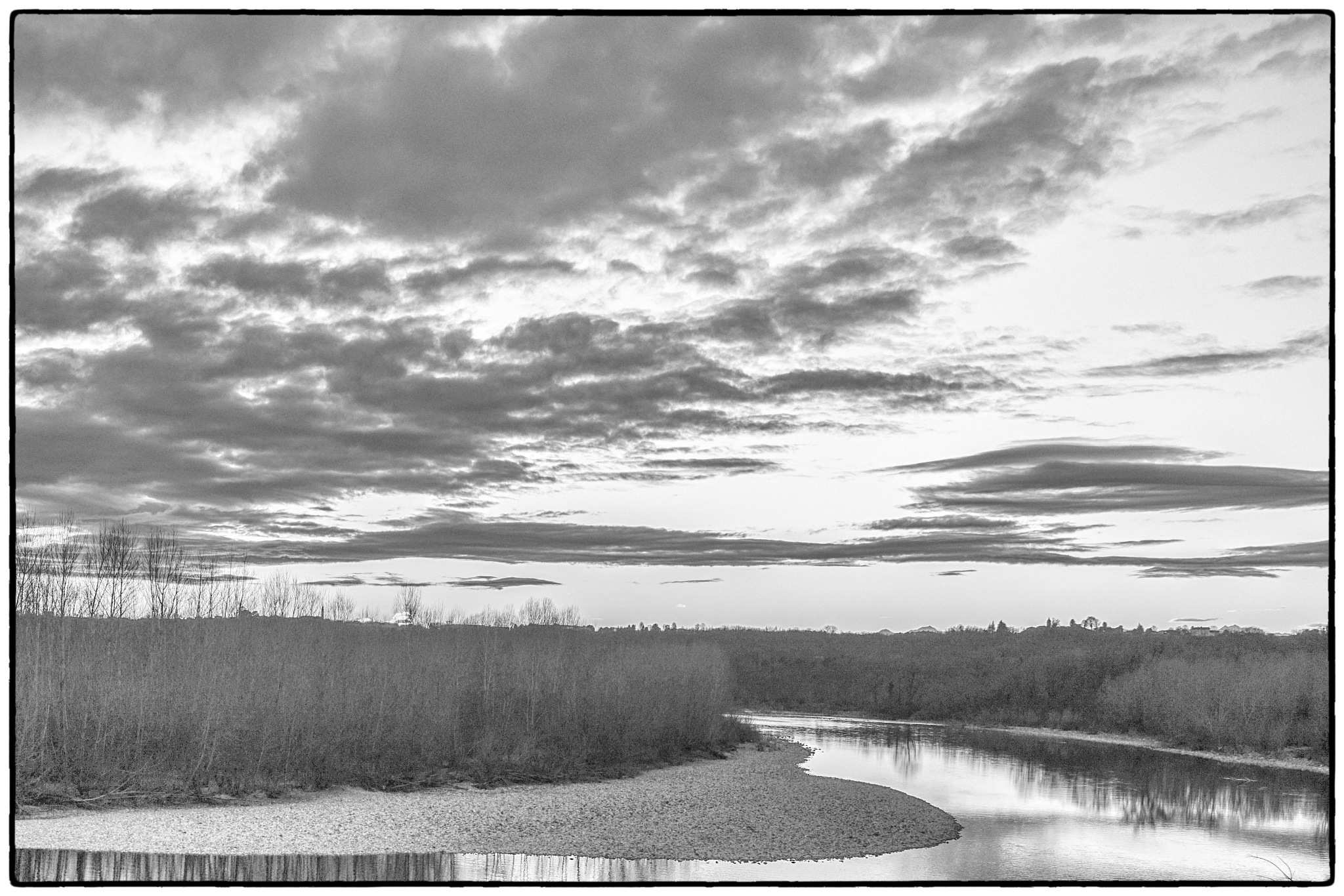 tramonto in bianco e nero by bcorech