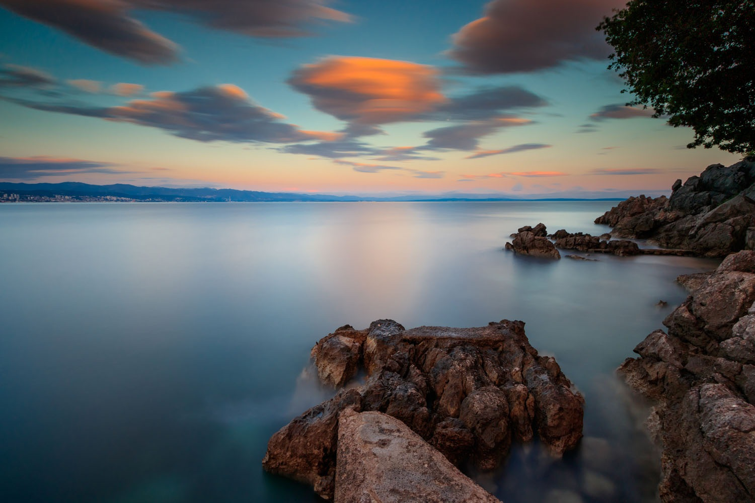 sunset in Opatija by Nikolay Tatarchuk