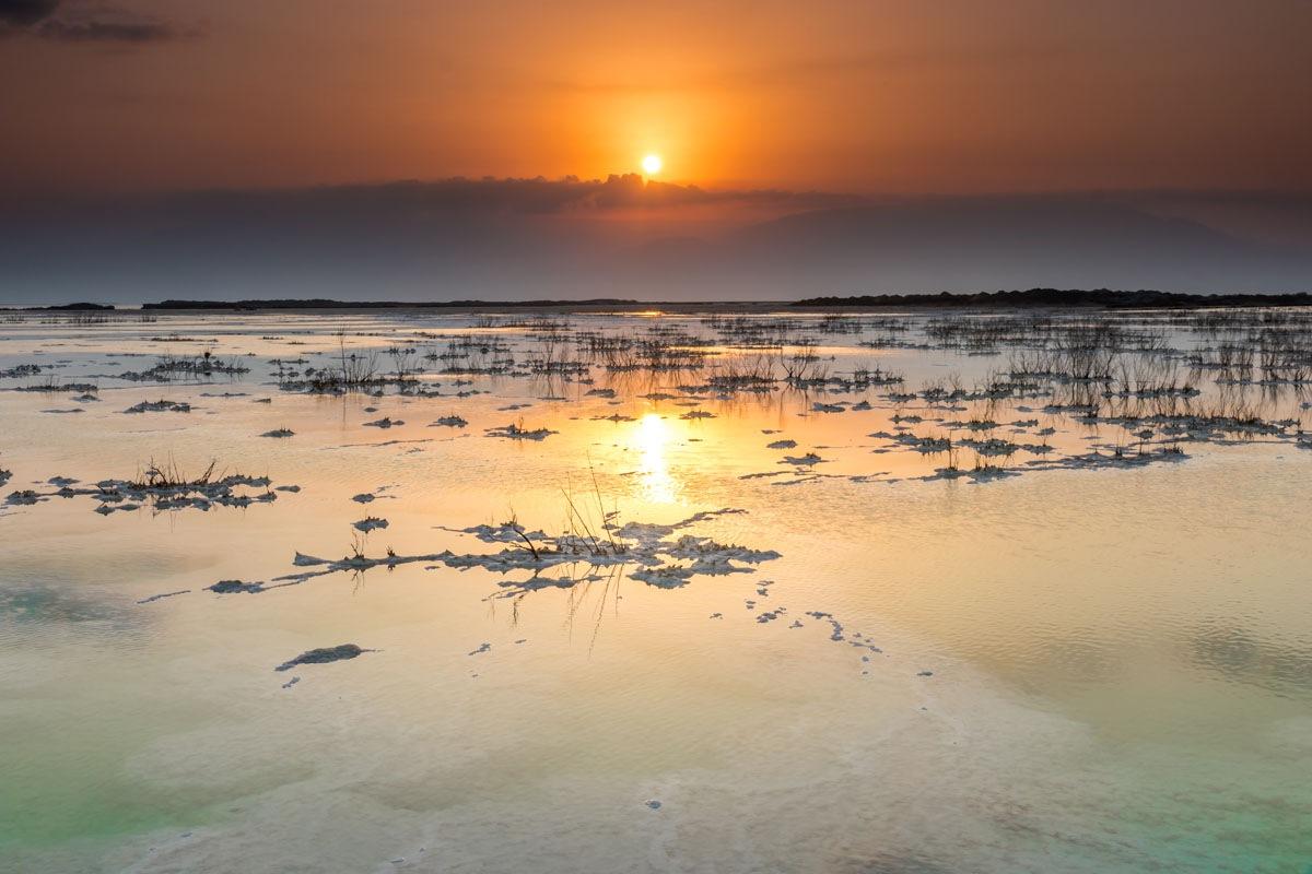 dead sea sunrise by Nikolay Tatarchuk