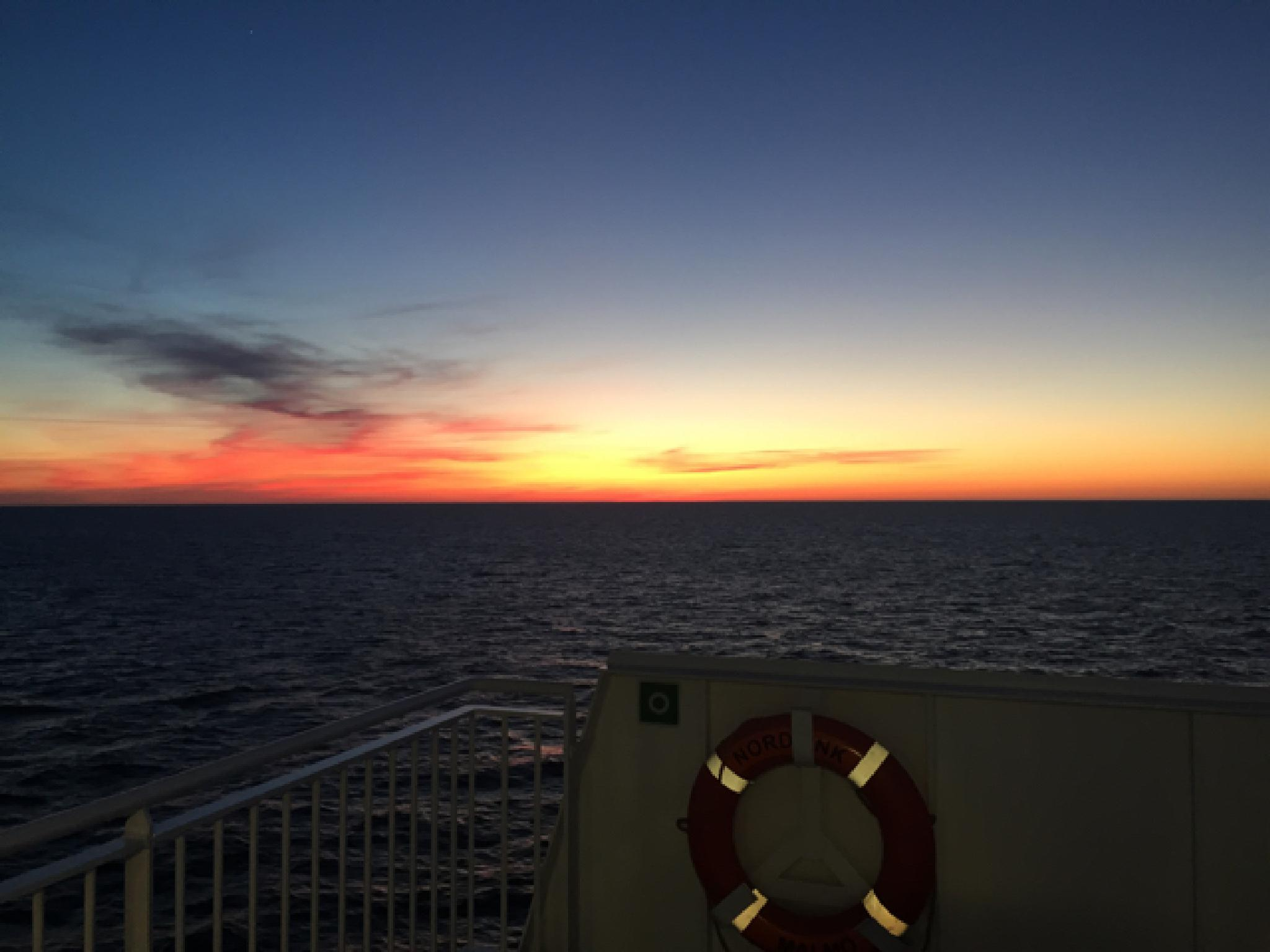 lovely sunset outside Gotland by Johan Meding