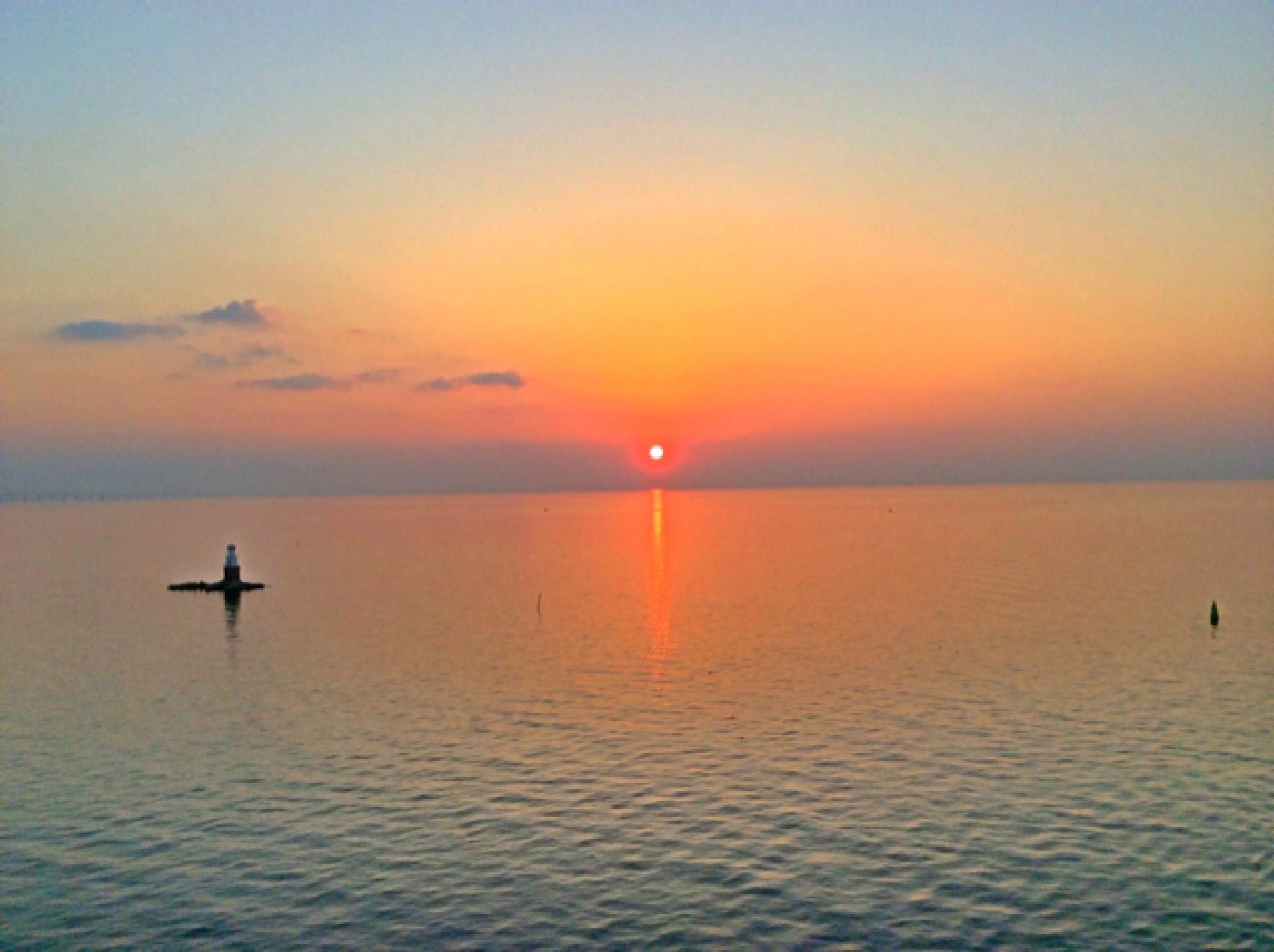 Sunset Malmoe @ Sea  by Johan Meding