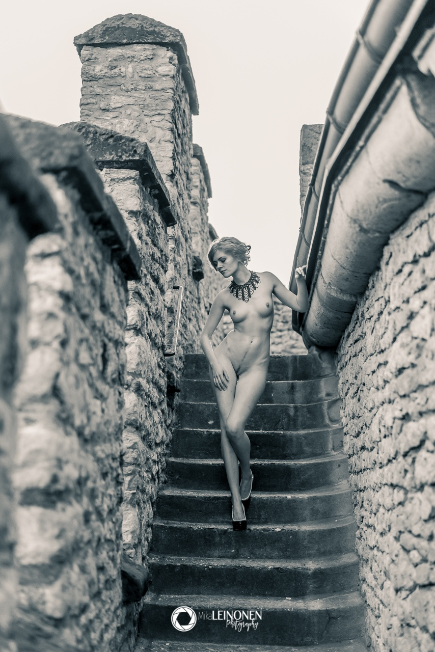 Woman \/ Stairs 1 by Mika eL