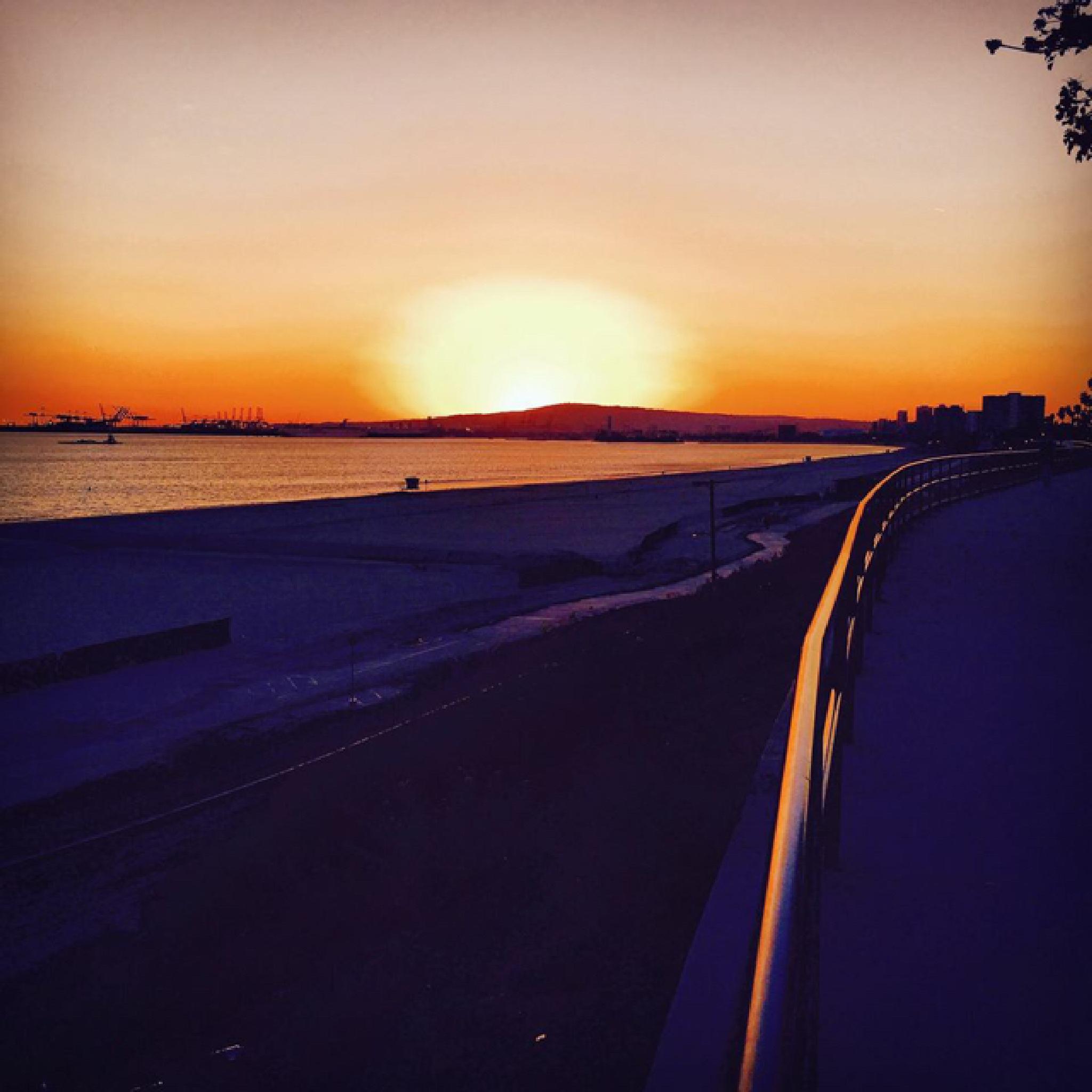 Golden purple sunset by maryann.mishko