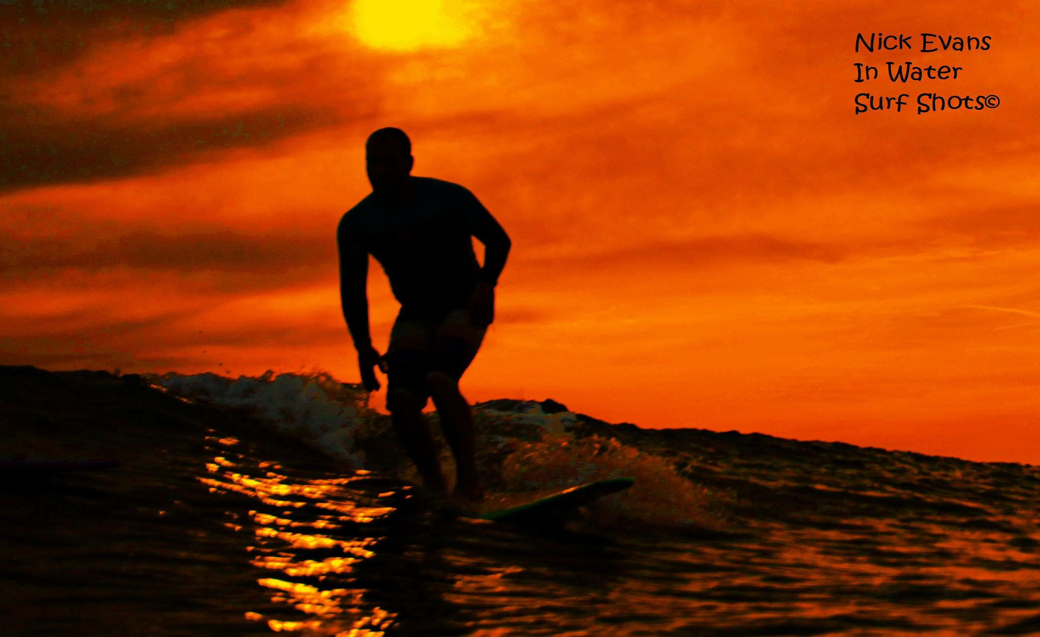 welsh surf sunset  by nic.evans.77