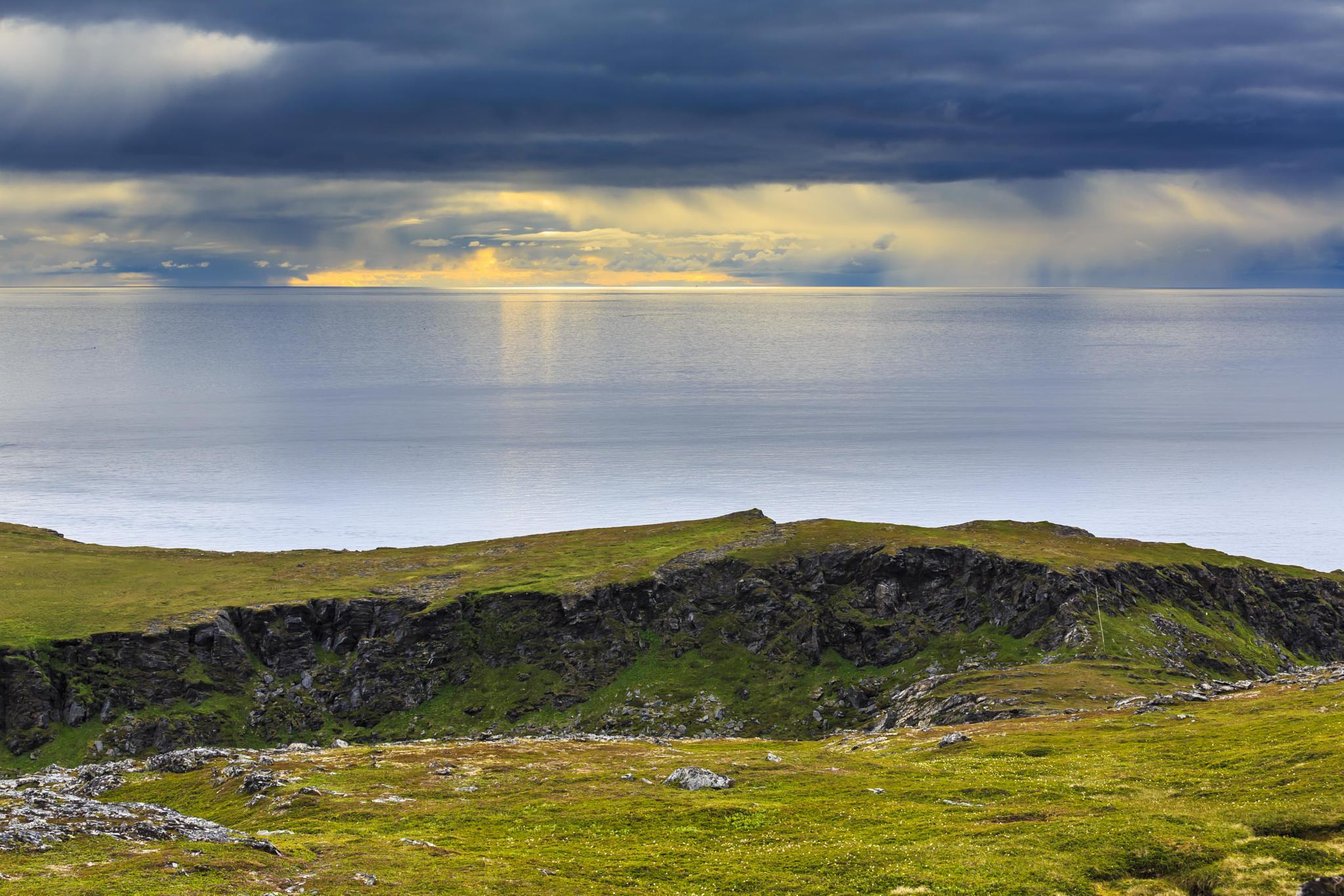 Hiking by the coast.  by olegunnar.rasmussen