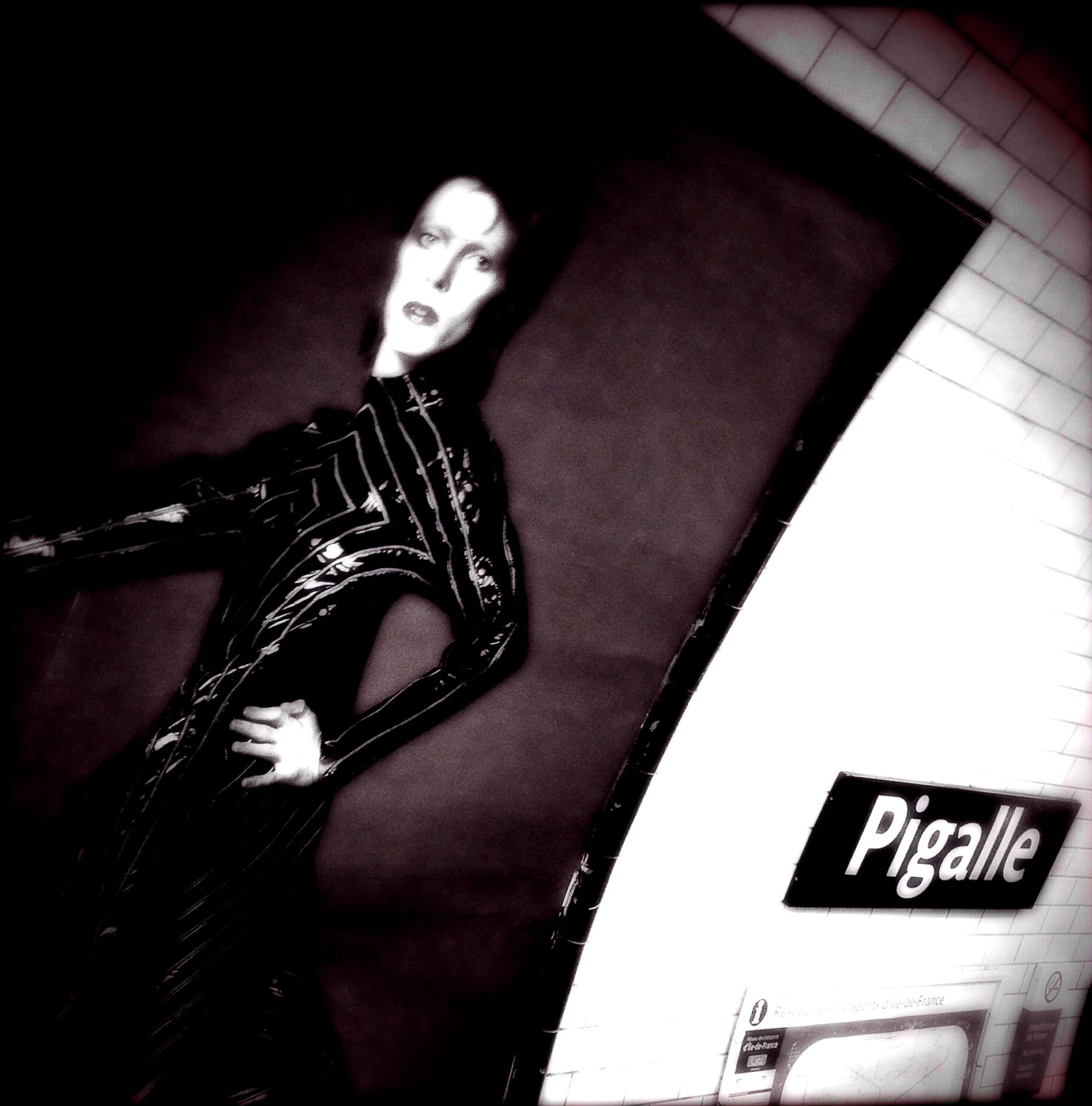 Photo in Celebrities #paris #tube #station #bowie #wall #poster #iphone