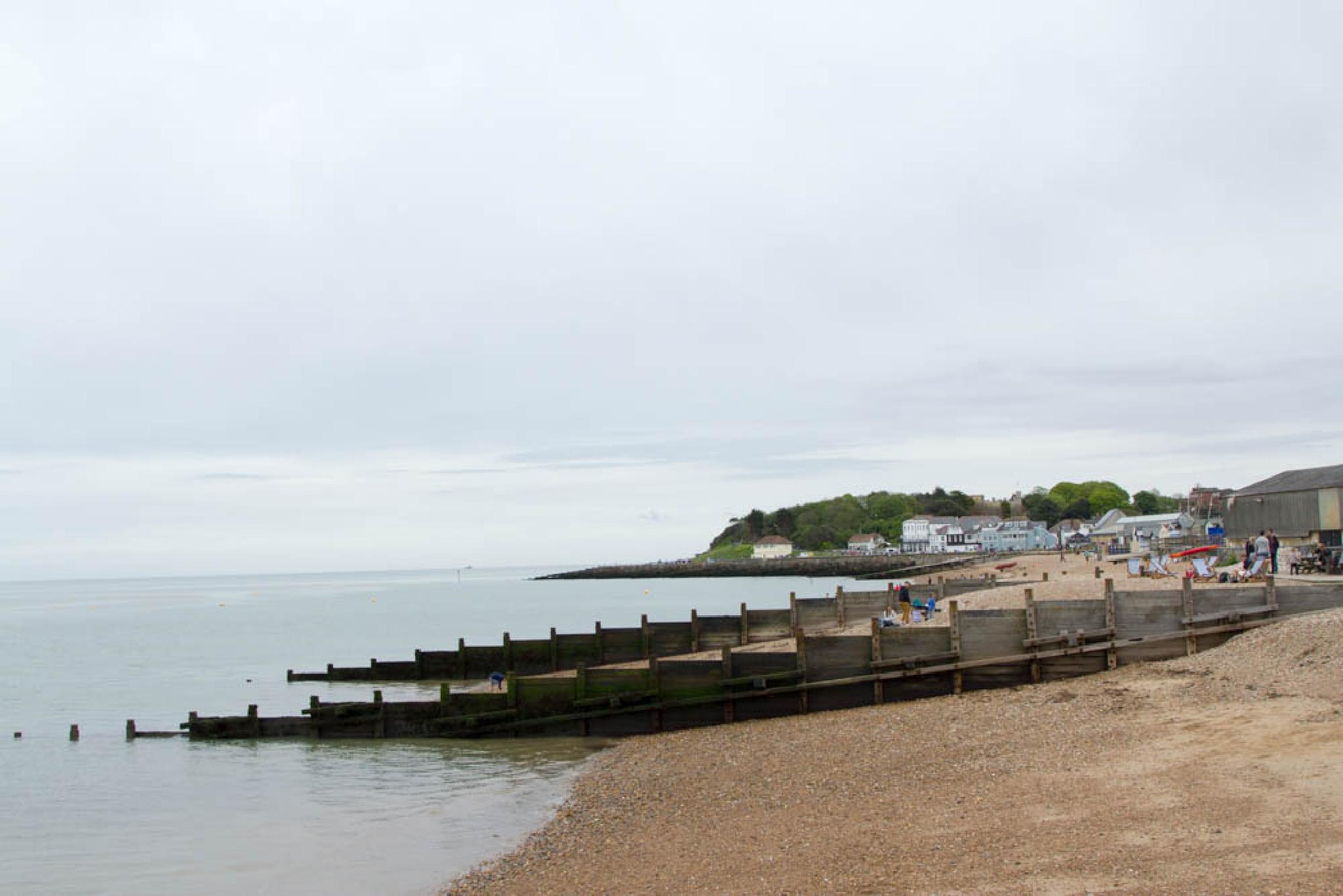 Whitstable beach timber groynes by Scottie