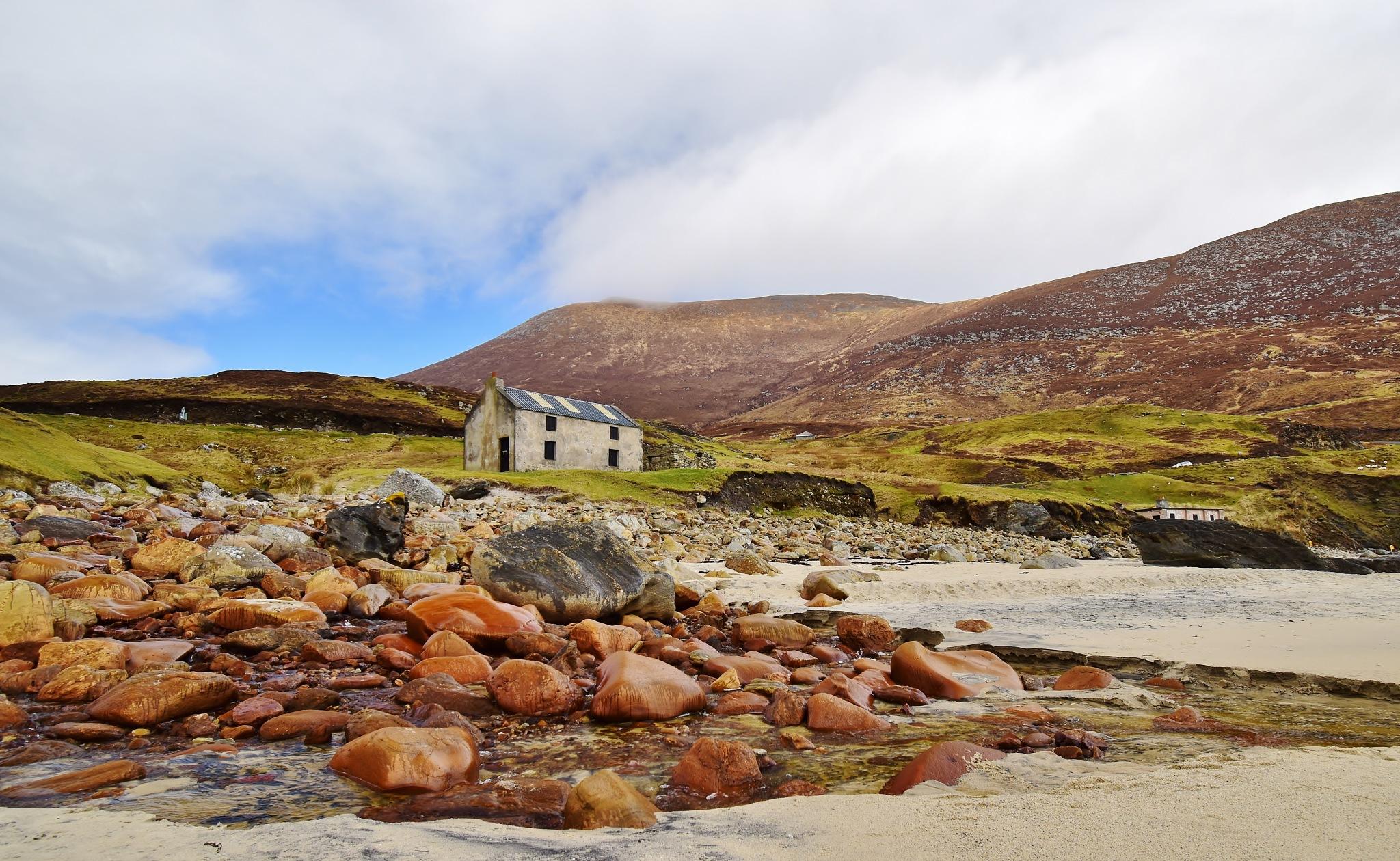 Photo in Landscape #beach #boulders #rocks #sand #stream #achill island #ireland