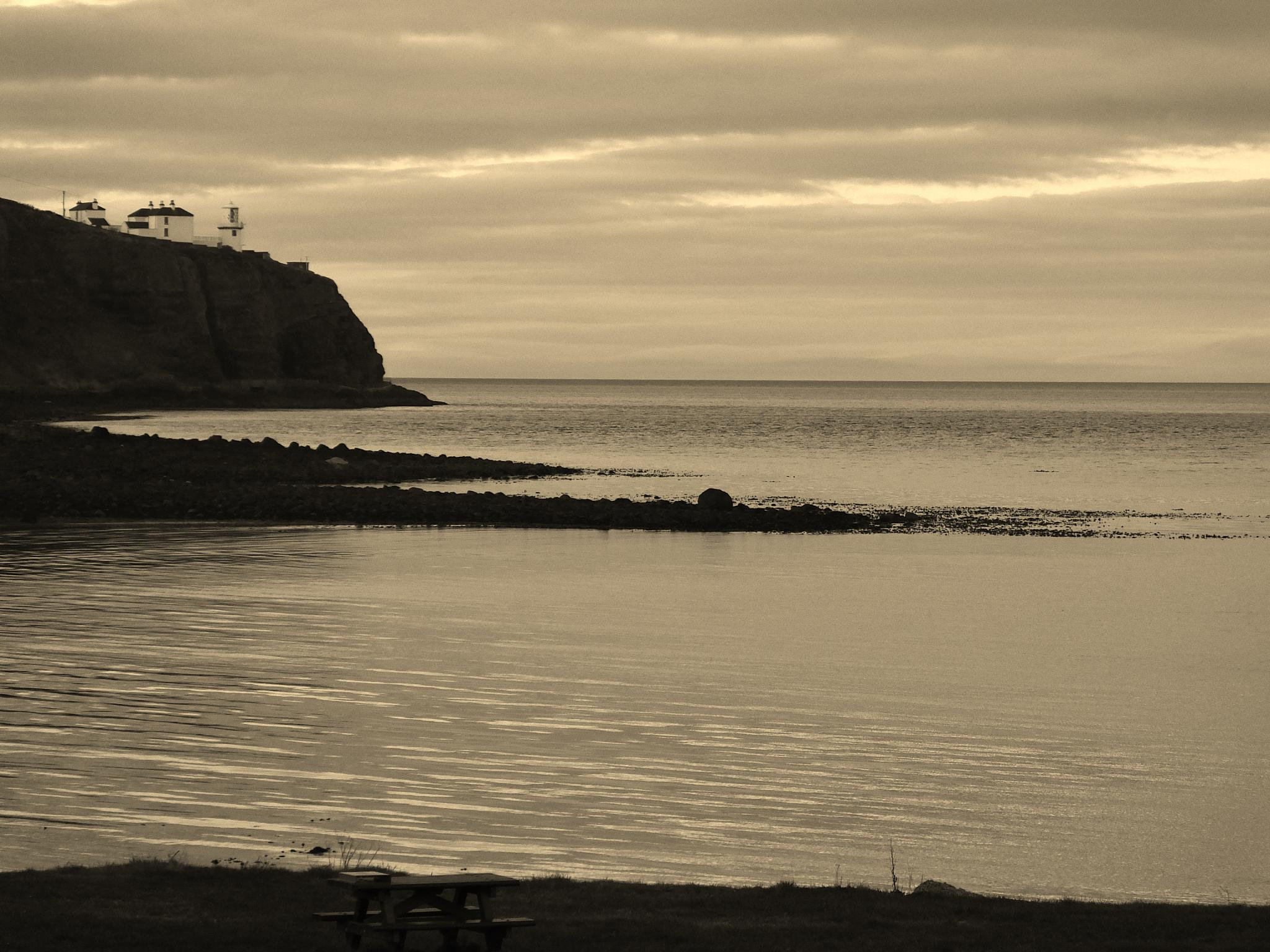Sepia sea and sky to Scotland by andy.morrow.315