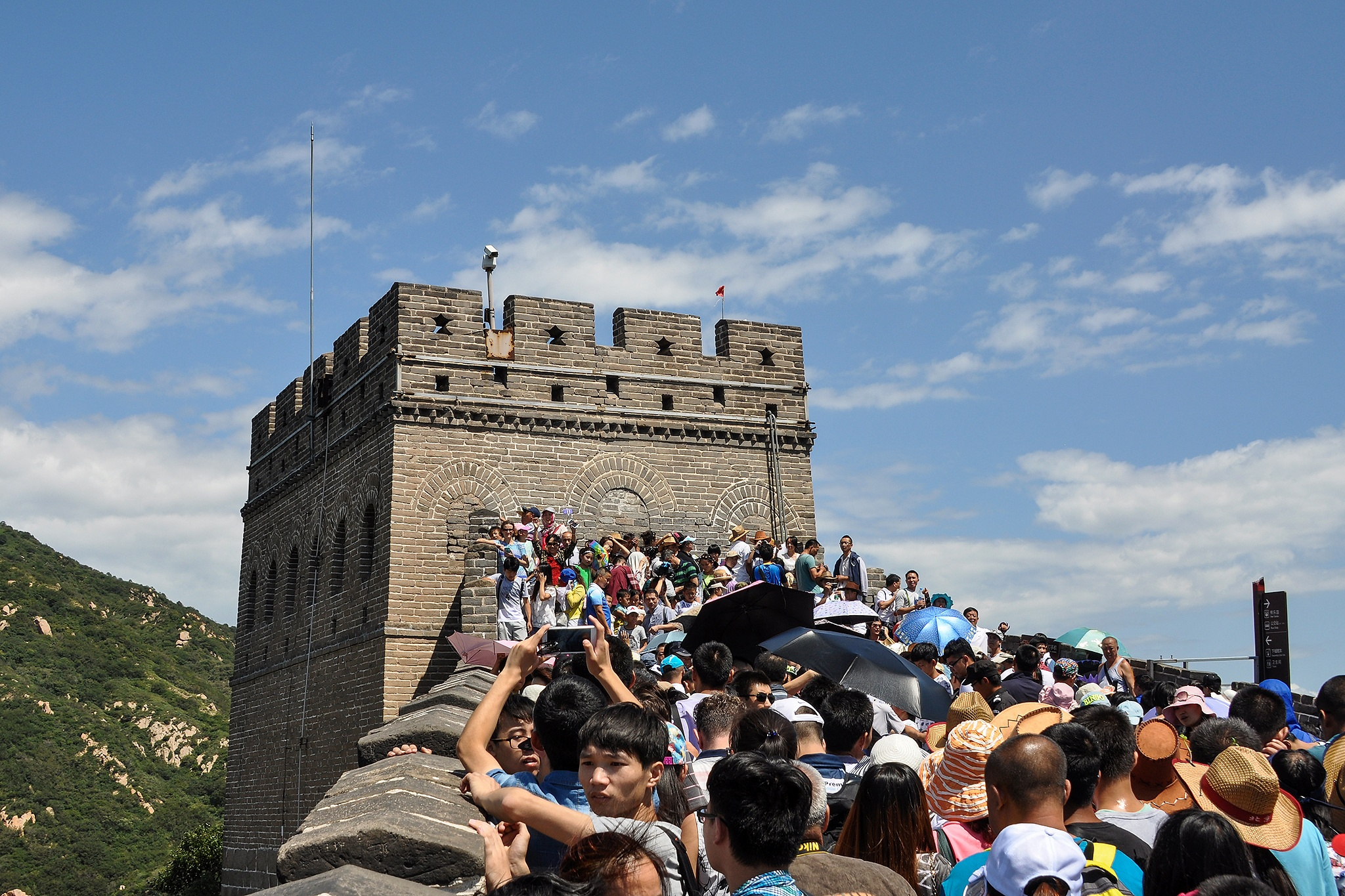 Never alone on the Great Wall of China by Kjell Lundqvist