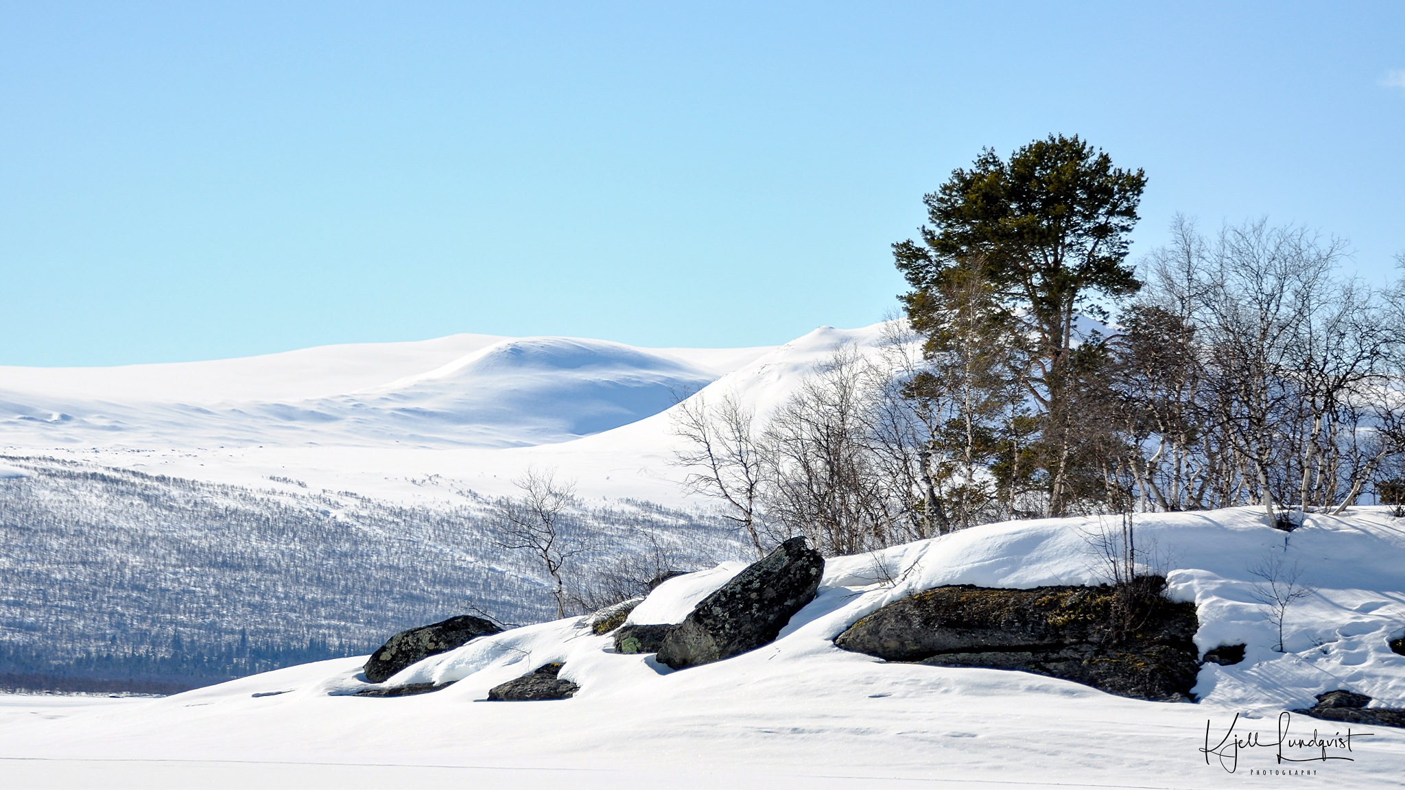 Winterday by Kjell Lundqvist