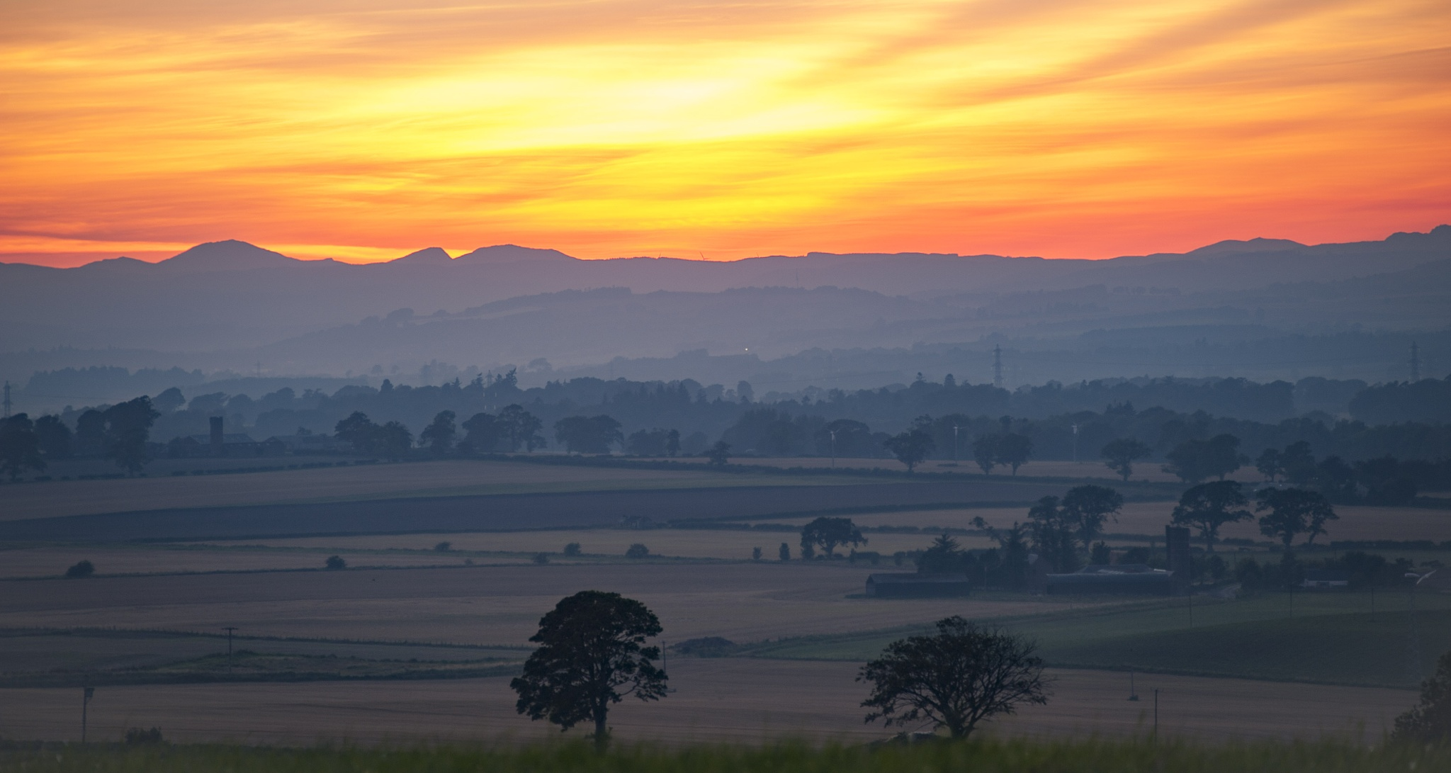 Strathmore Valley at Sunset by Stormrider-uk