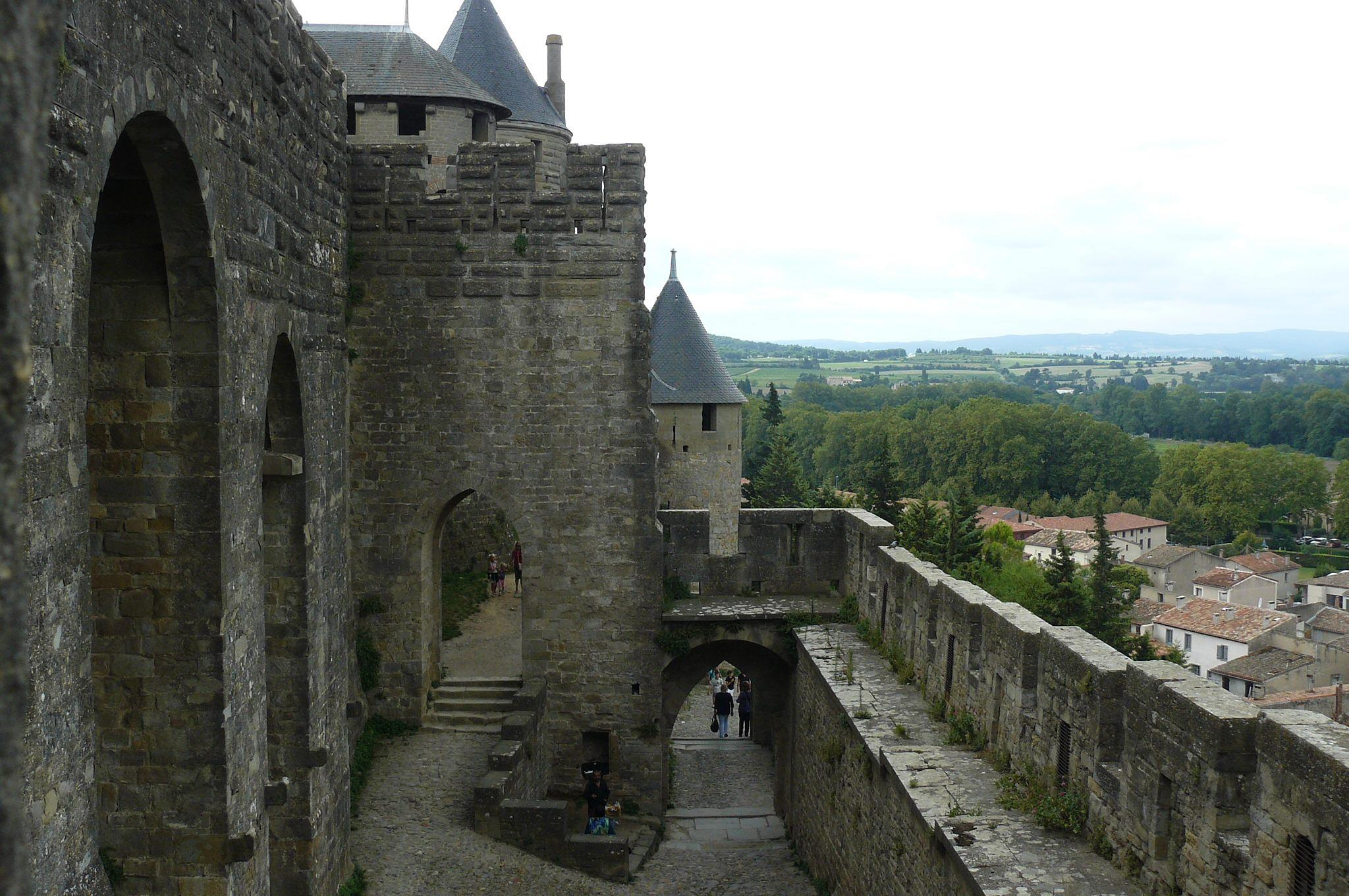Carcassonne citadel by yankeebiscuitfan
