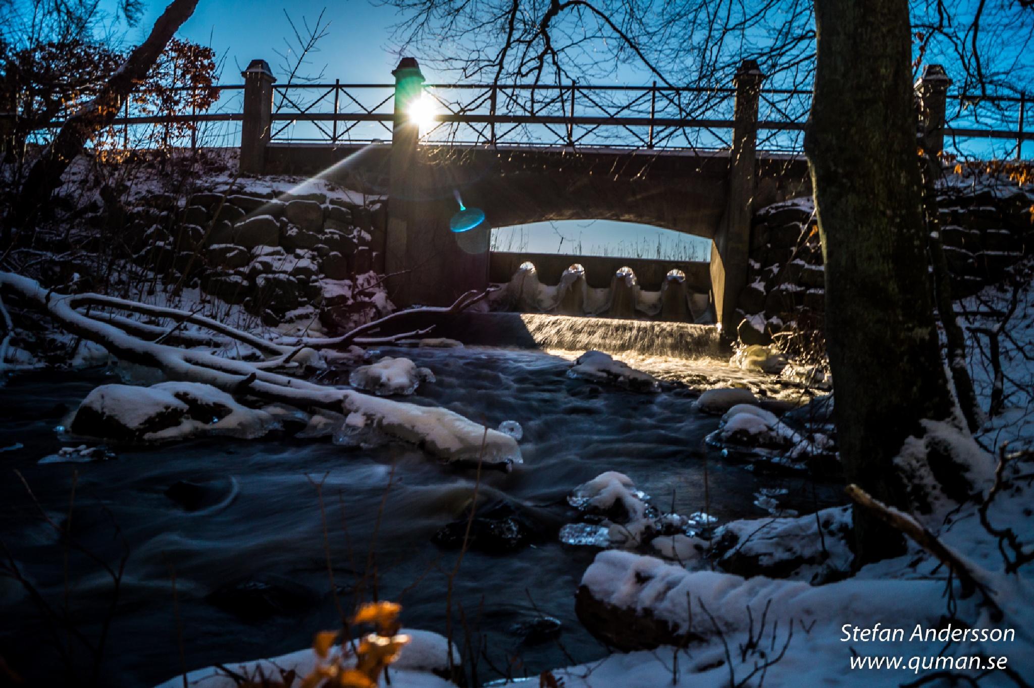 River in motion, Wintertime by Stefan Andersson