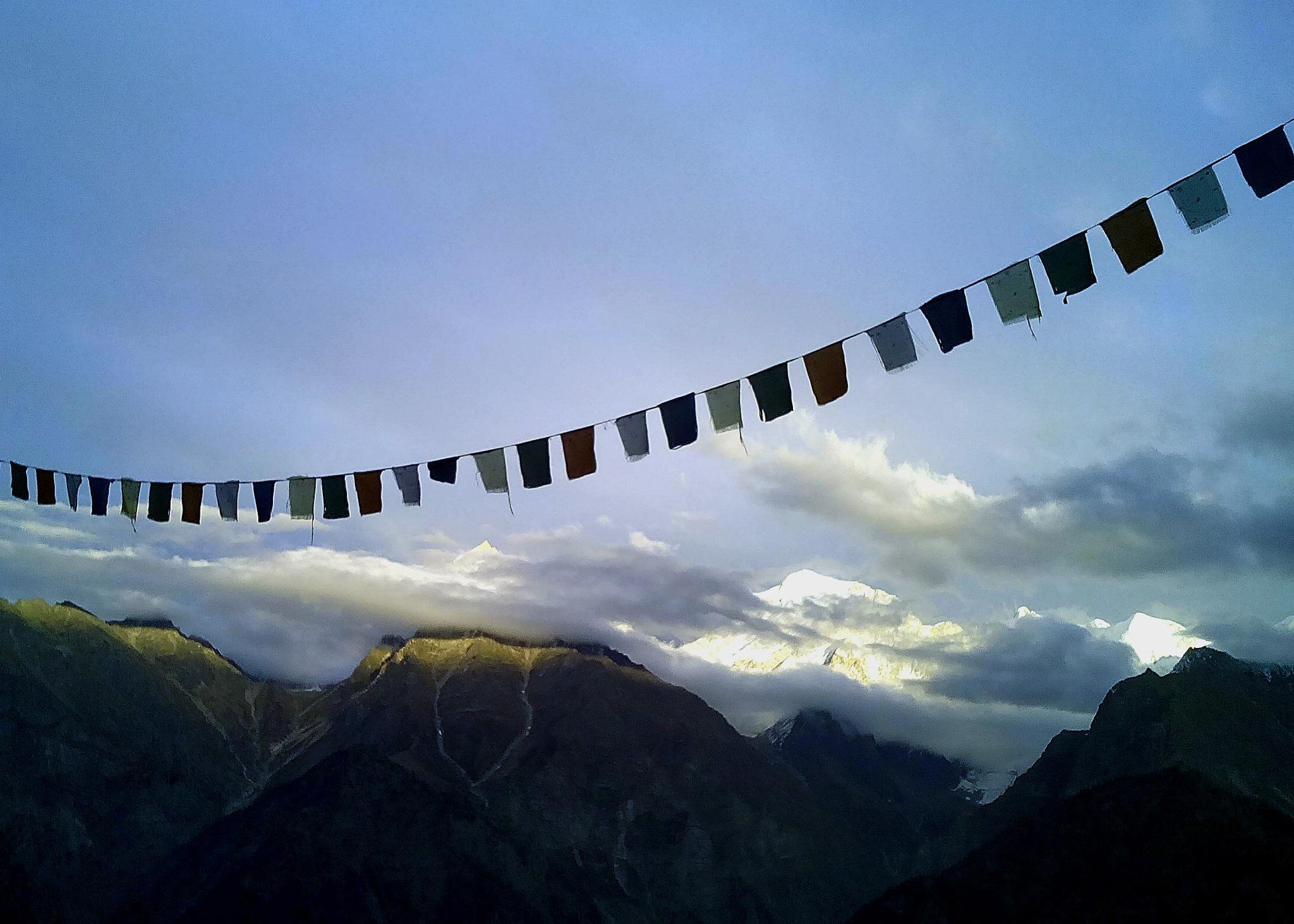 Prayer flags at Kalpa. by apurba kumar pal