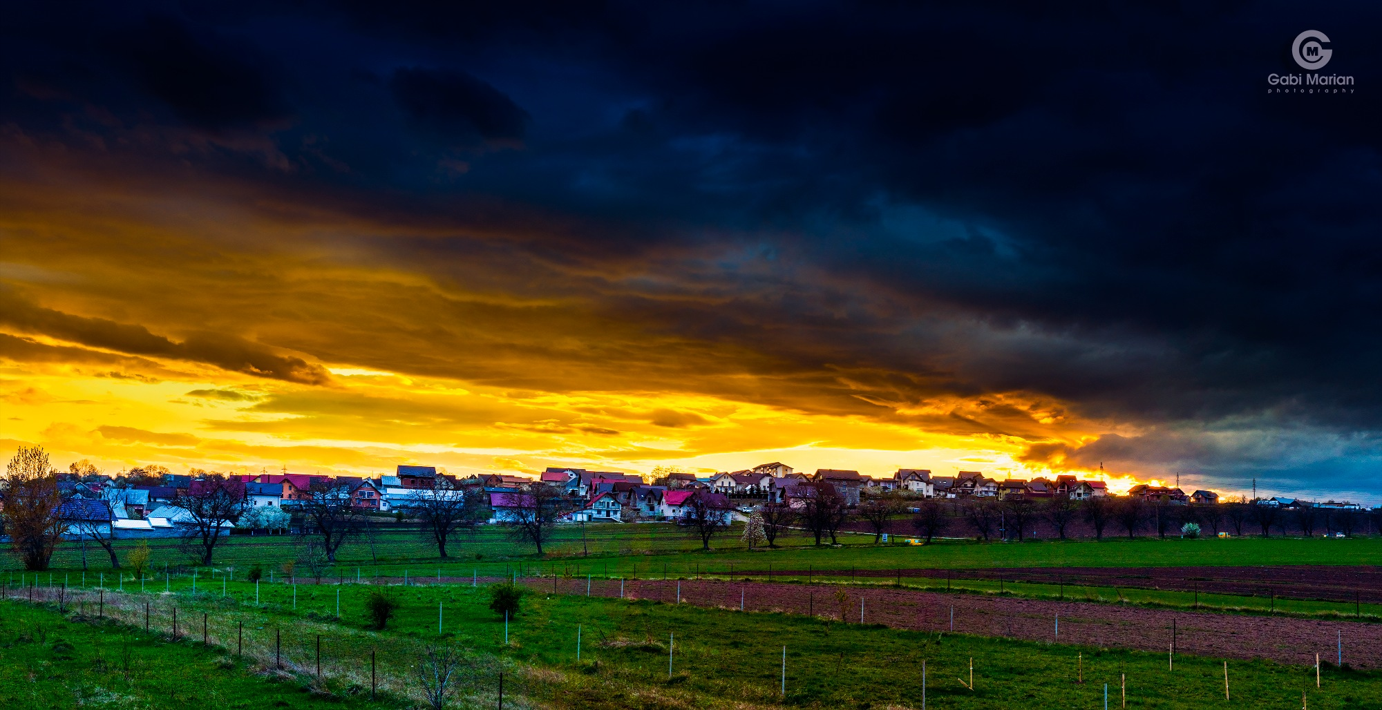 Sunset from the backyard by Gabi MARIAN