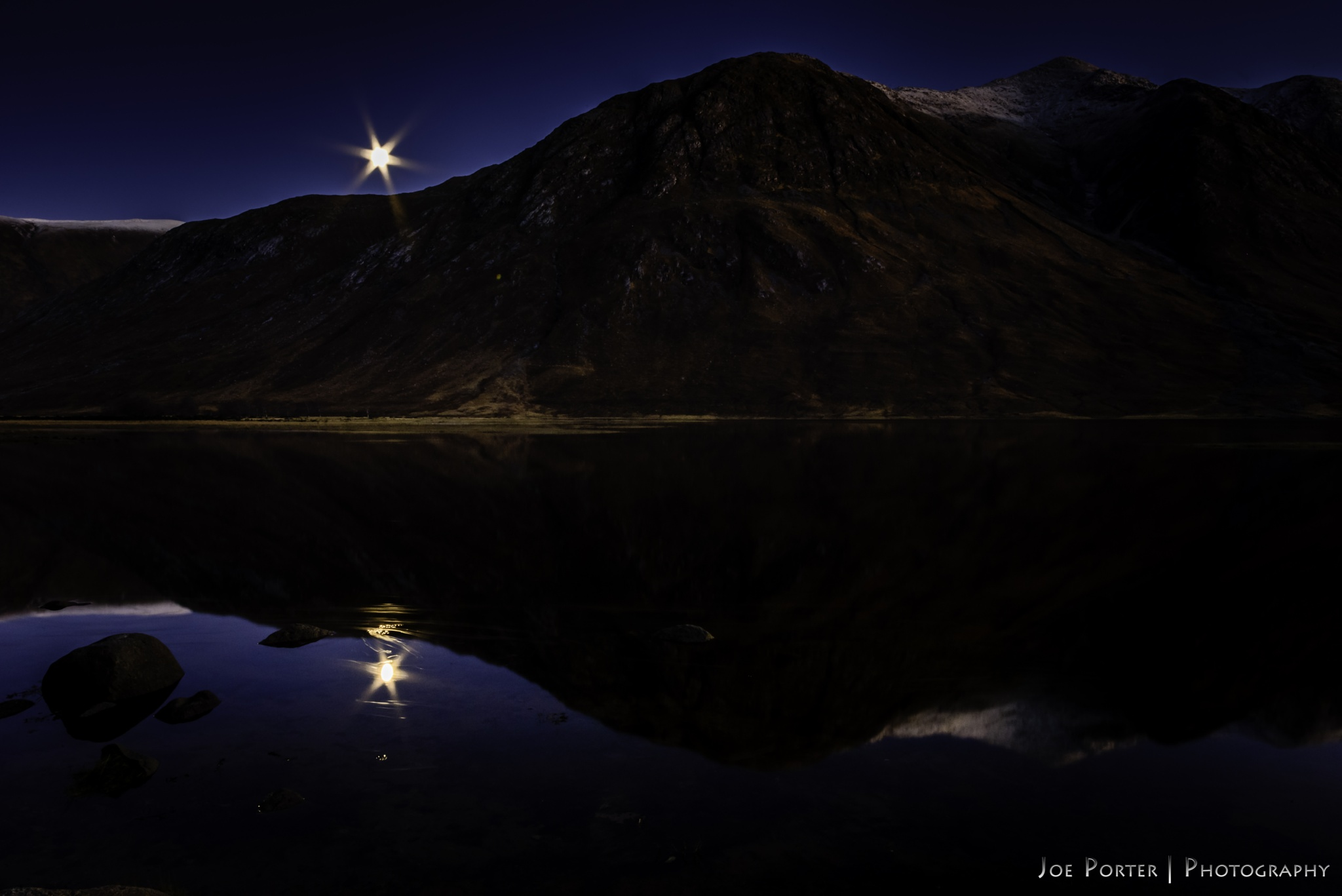 Loch Etive Moonbeams by Joe Porter Photography