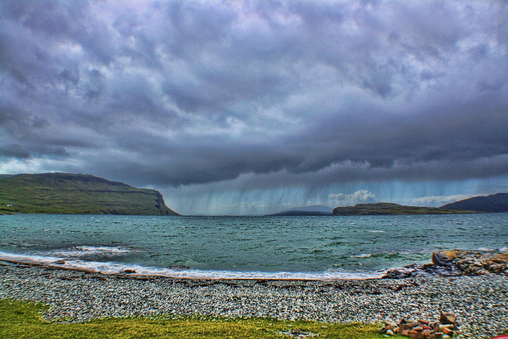 Loch Na Keal storm by keve E