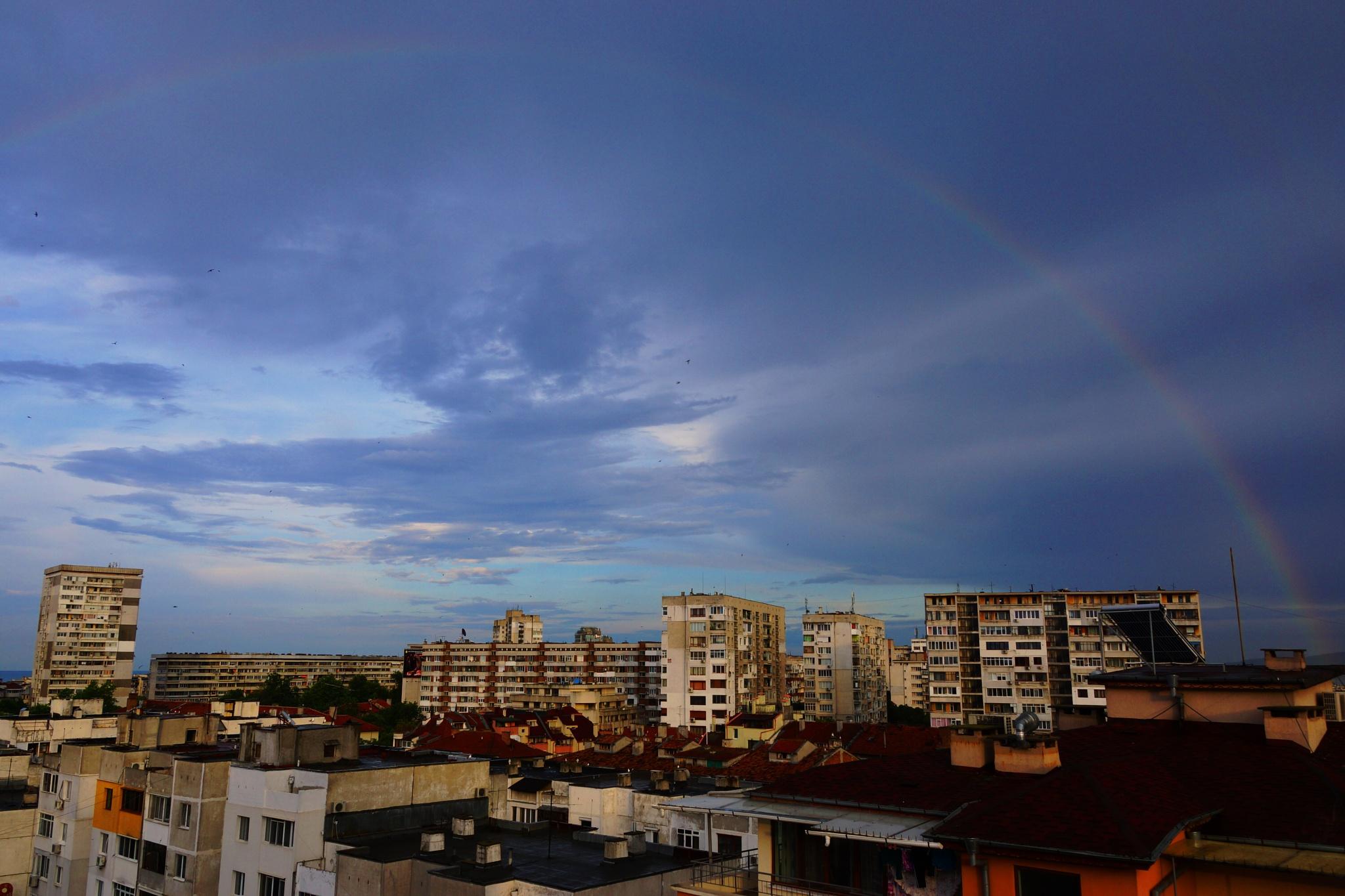Photo in Nature #sky #rainbow #sea
