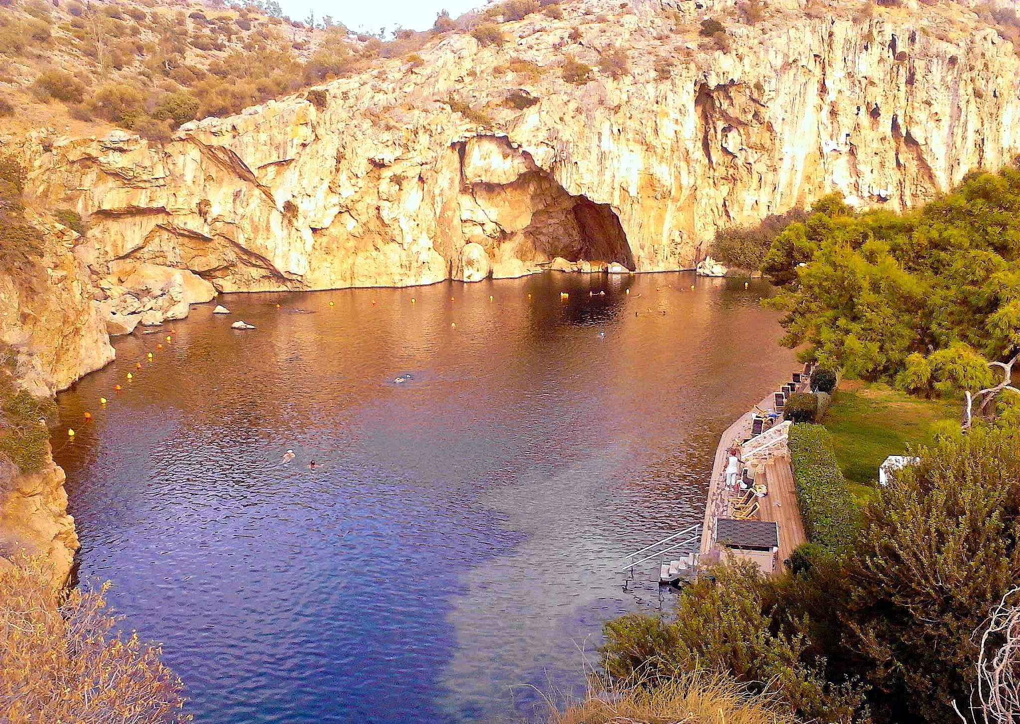 Lake Vouliagmeni. by Betty Piromali