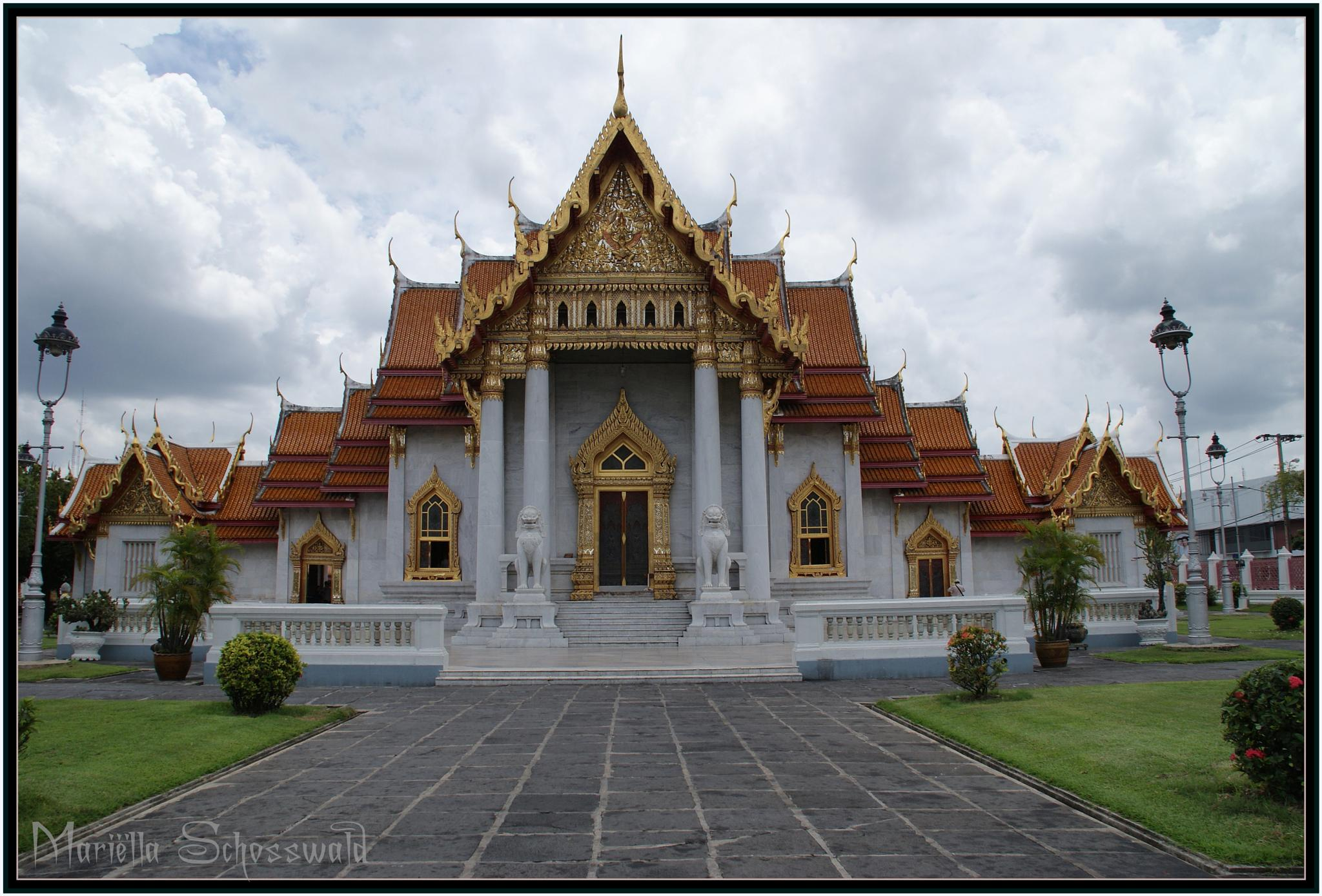 Photo in Architecture #marble temple #marmeren tempel #thailand #azie #tempel #travel #asia #asian