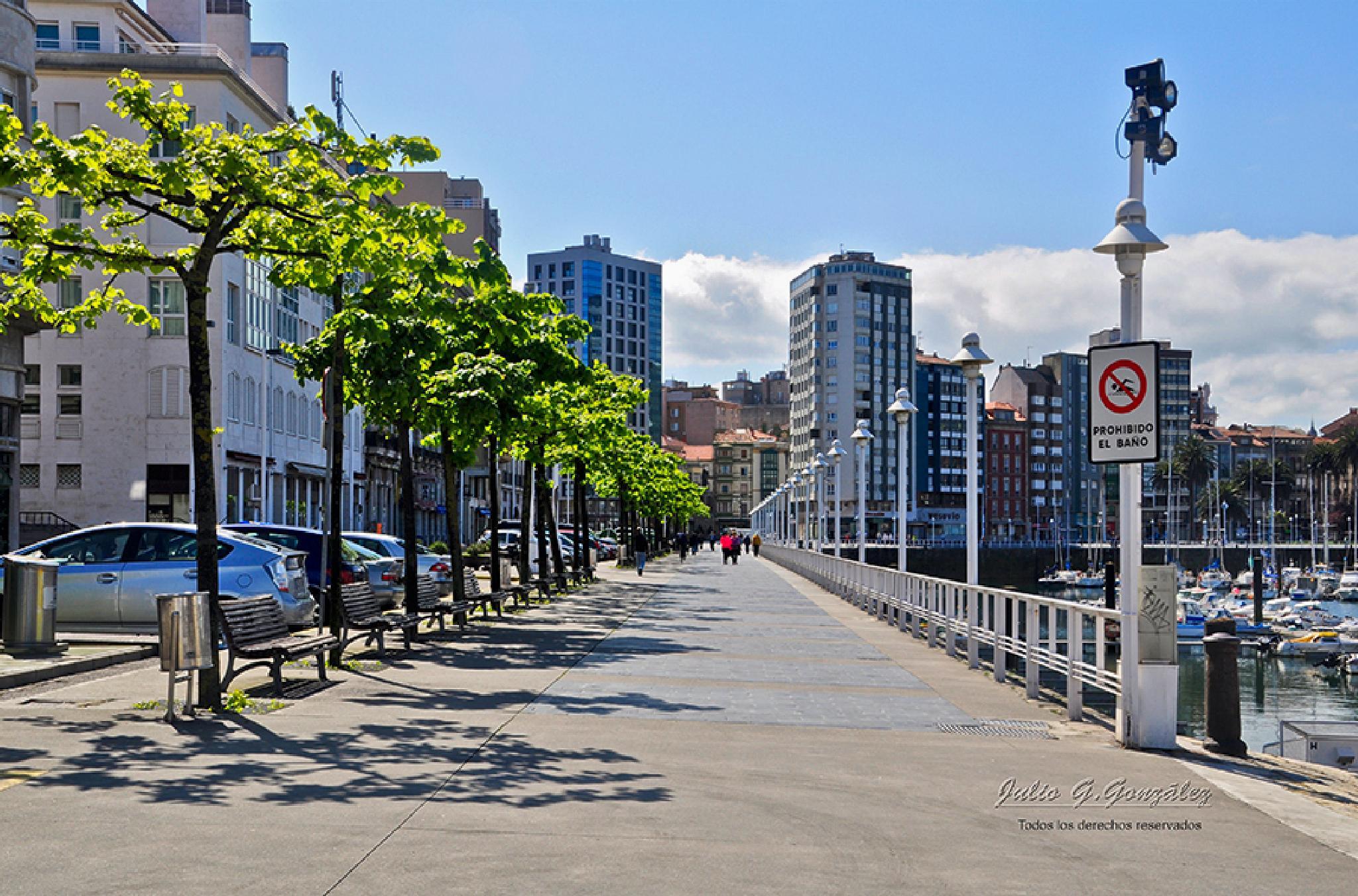 Paseo del Puerto Deportivo de Gijón by Julio G.González