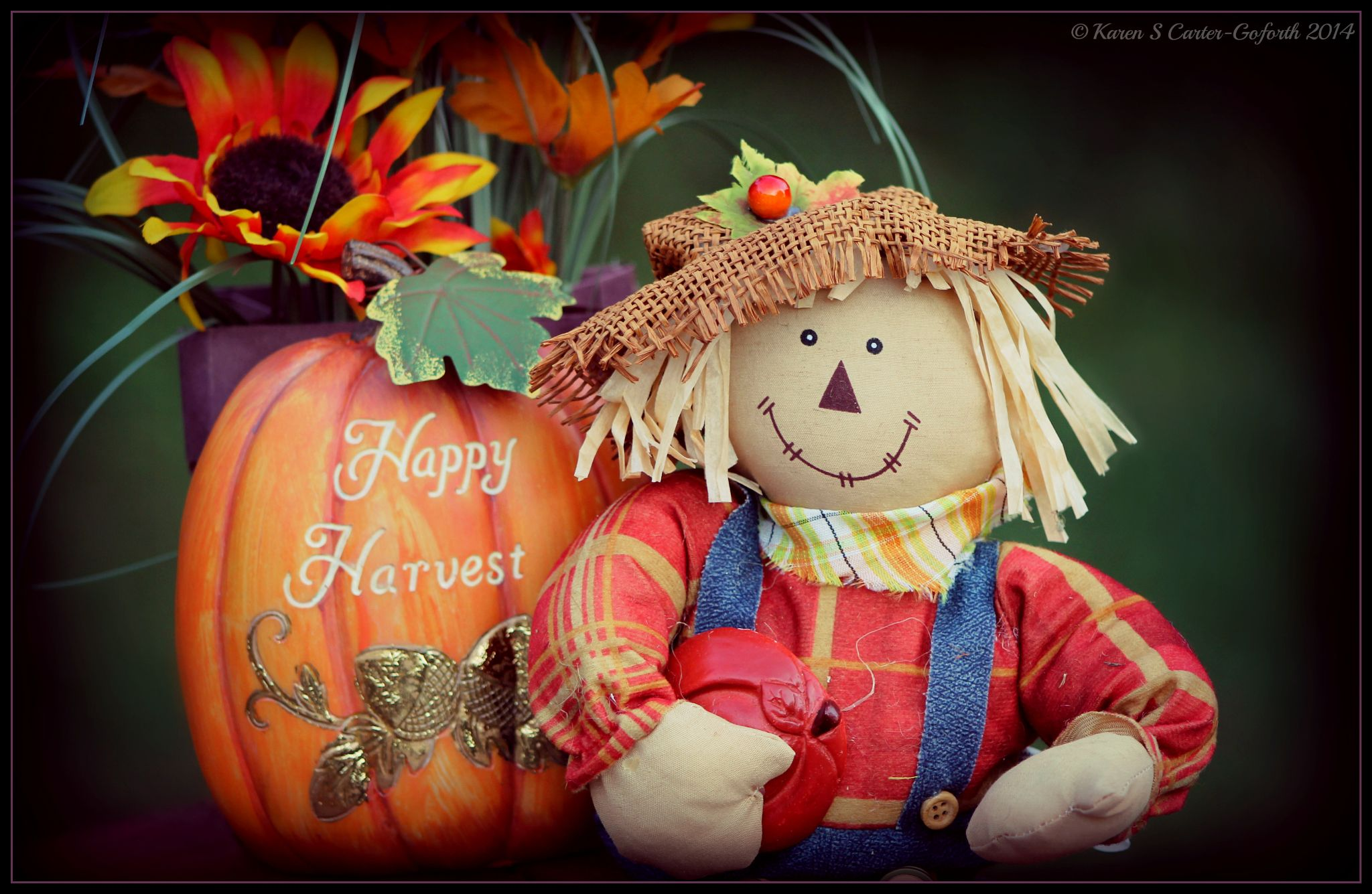 Happy Harvest 1  by Karen Carter-Goforth