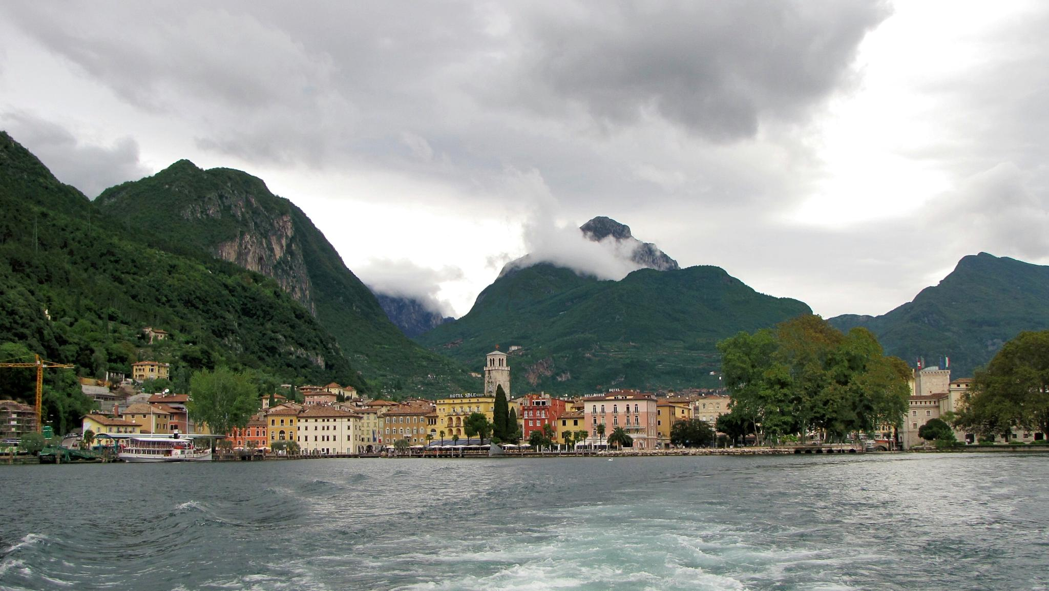 Riva - seen from lake Garda. Italy. by charles.fortescue.3