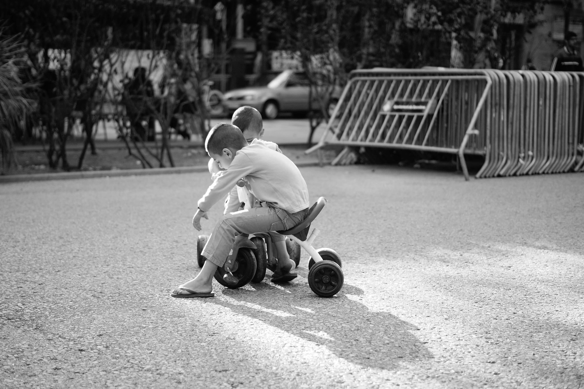 Children playing by GerdaVenema
