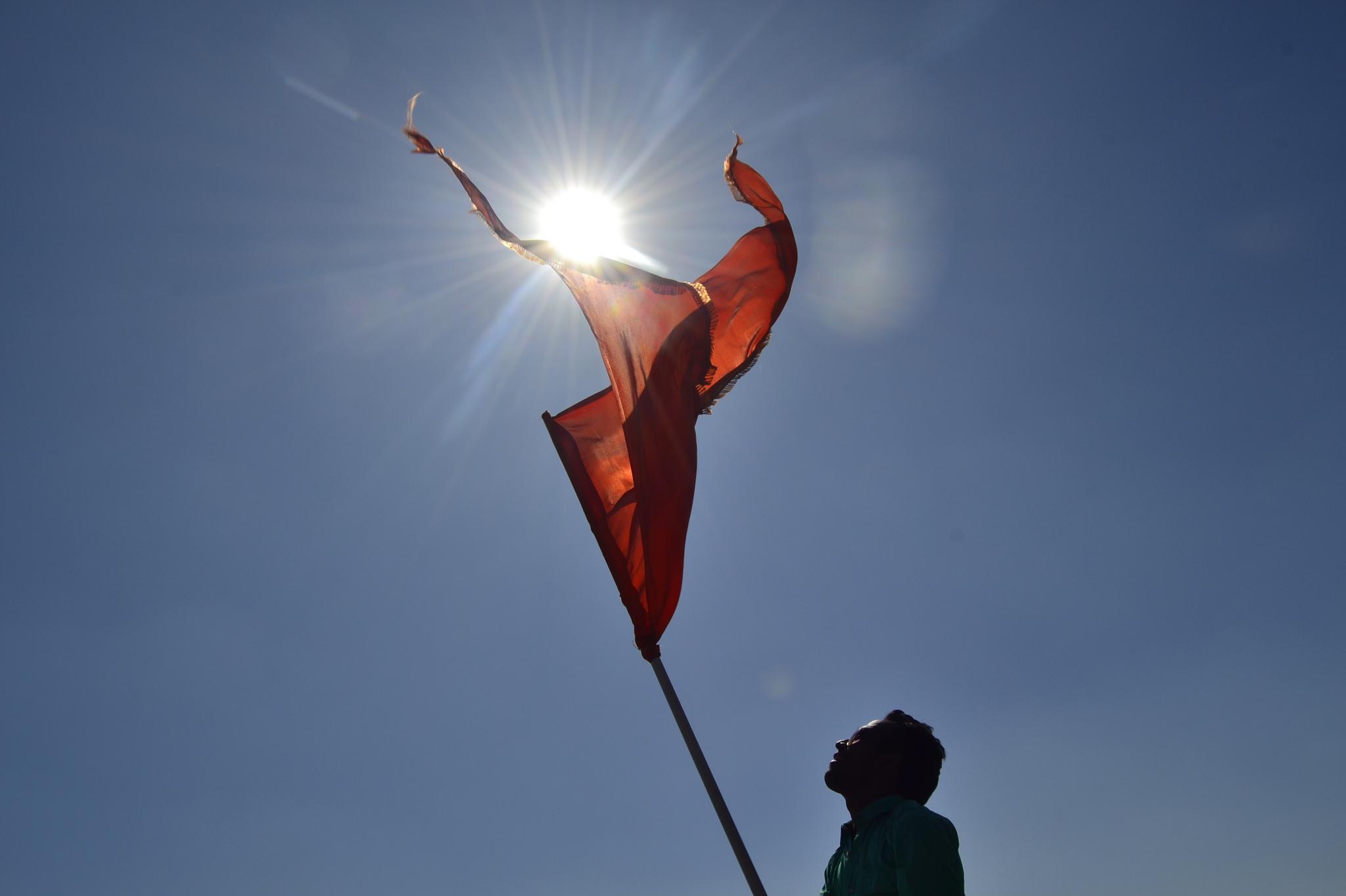 When Flag Meets Sun  by PRasad Ahirrao