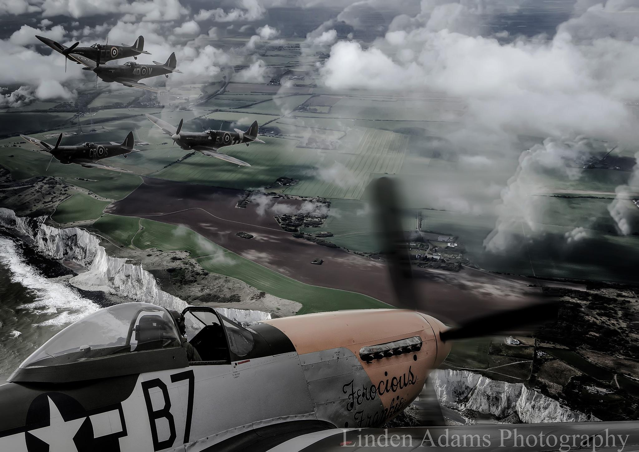 Spitfires over Dover  by linden.adams.10