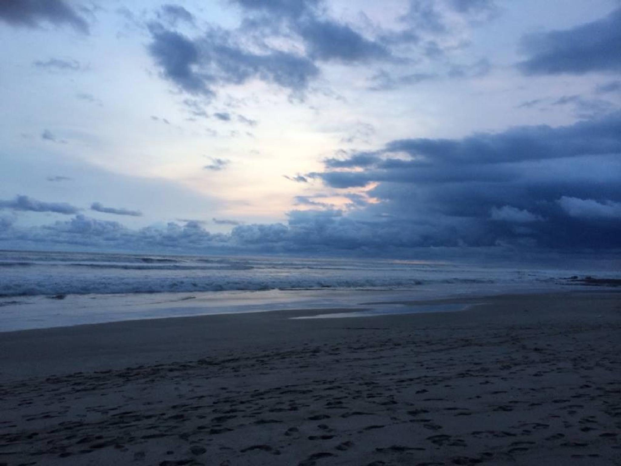 Blue Night Beach by sonya.f.kennedy
