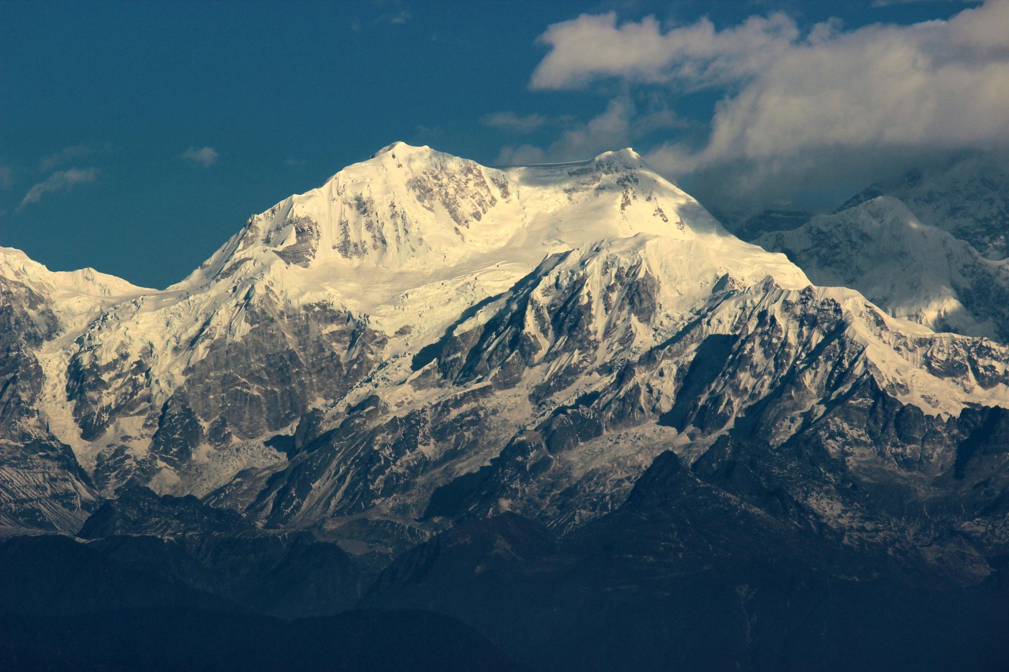 Snow-Laden Peaks by Sourajit Sarkar