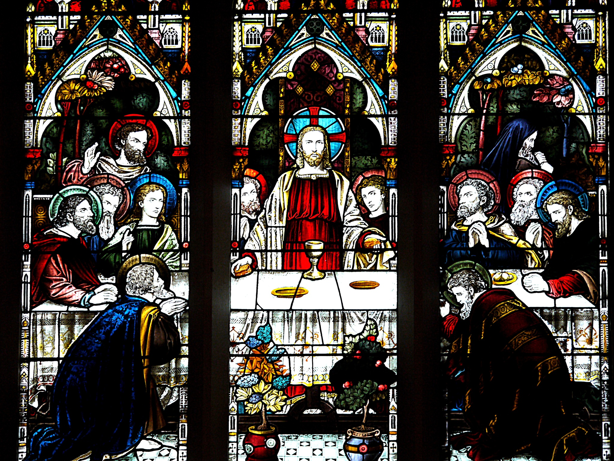 Stained glass window by Derek Hollis
