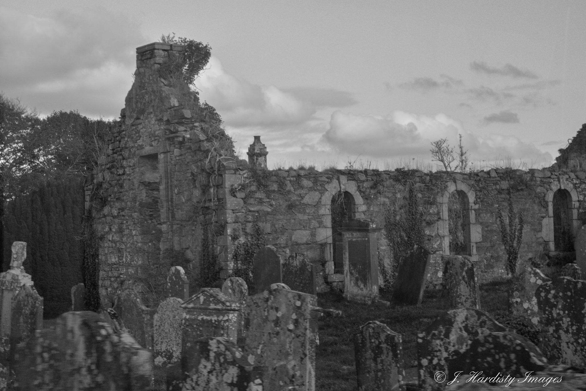 Old Church ruins by judithhardisty9