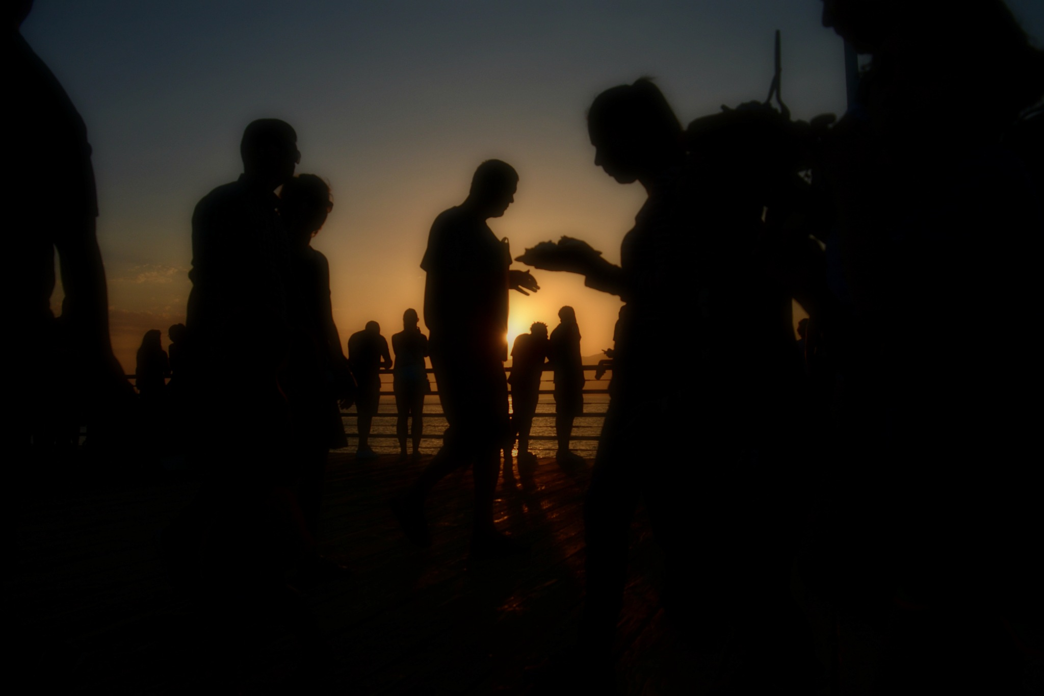 Silhouette & Sunset by Solomon Aseoche