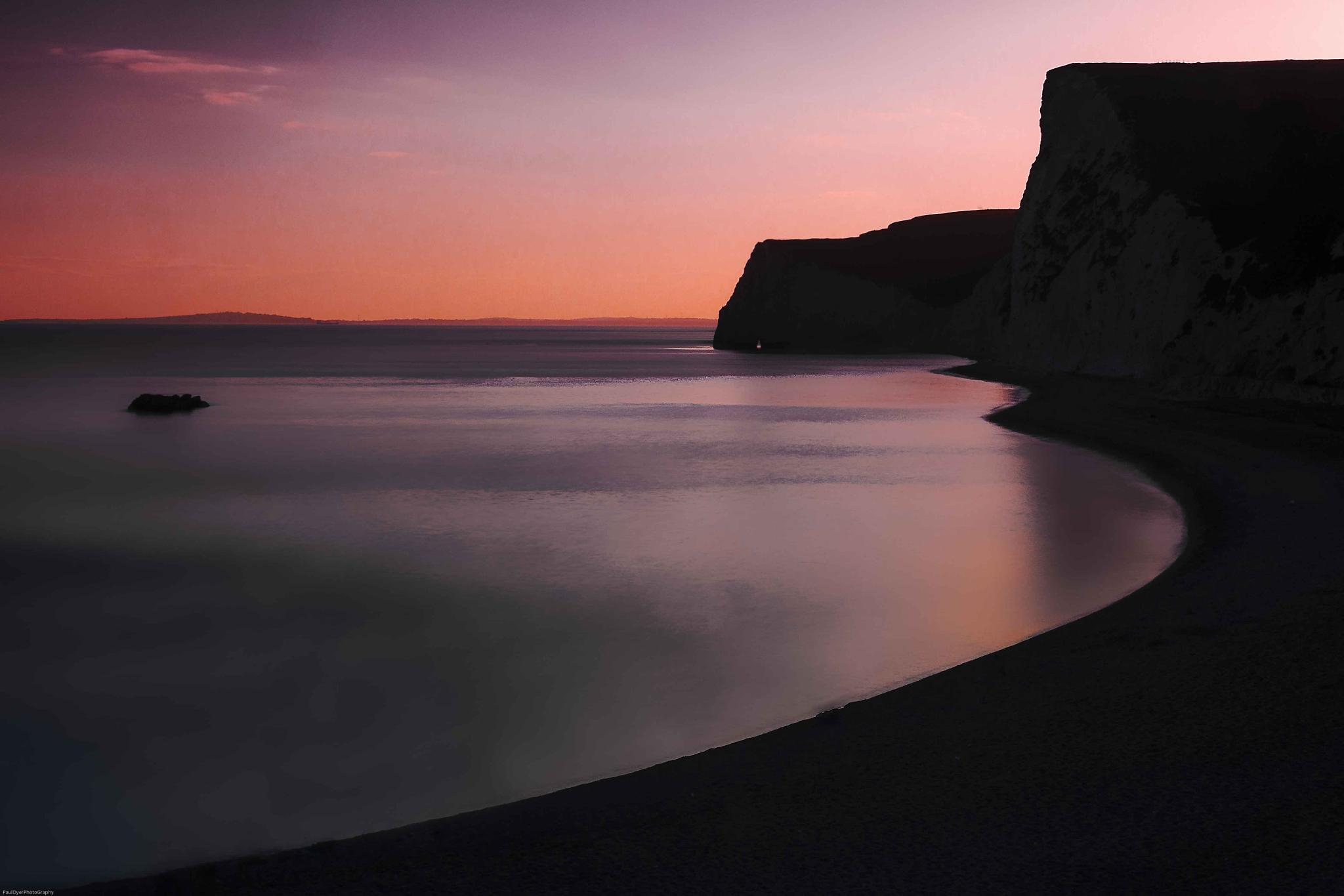 Sunset at the cove by Paul Dyer