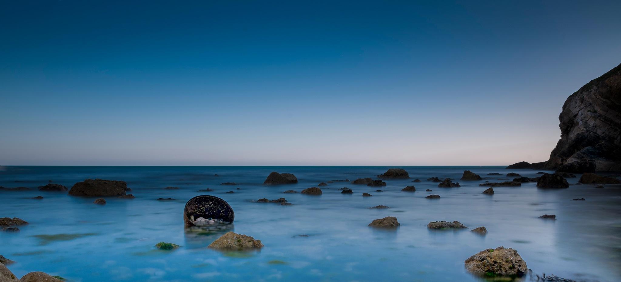 Rocky Bay At Tyneham by Paul Dyer