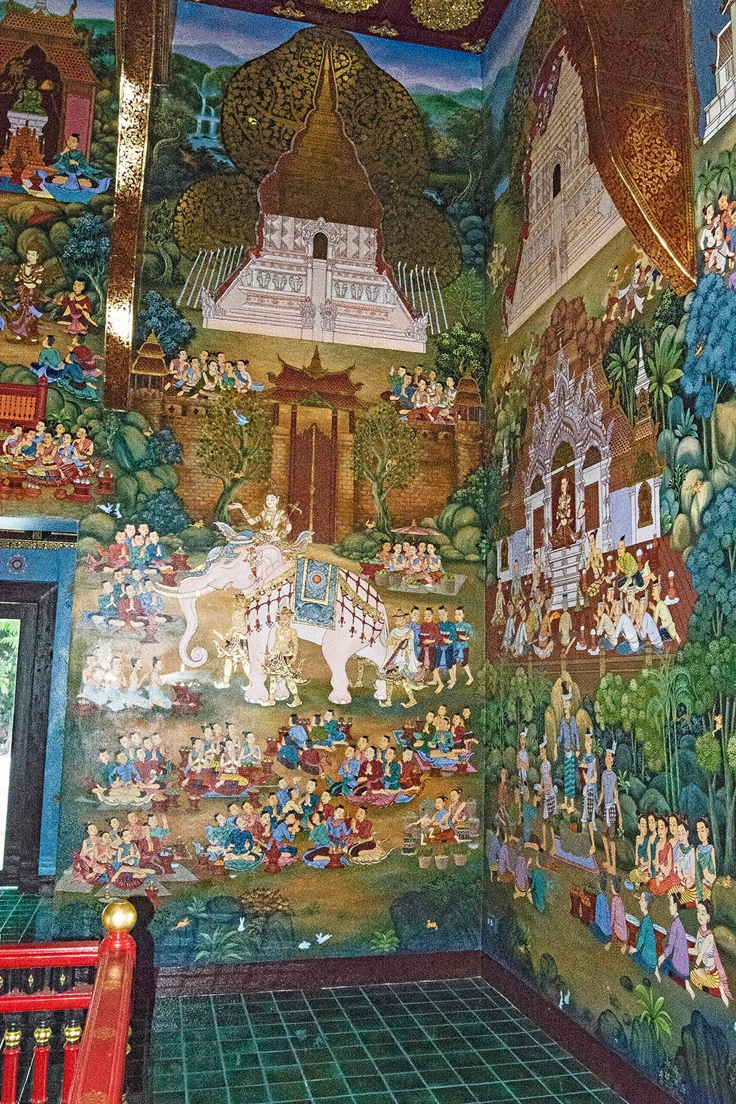 Gorgeous Greens & Blues of Thai Frescoes by TerraEncounters