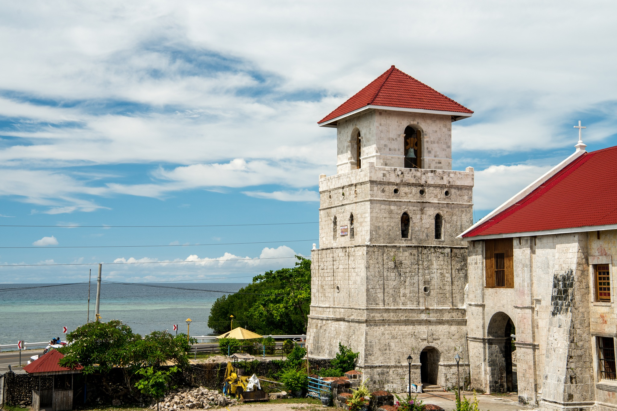 Bell tower of Baclayon Church by Ole Morten Eyra