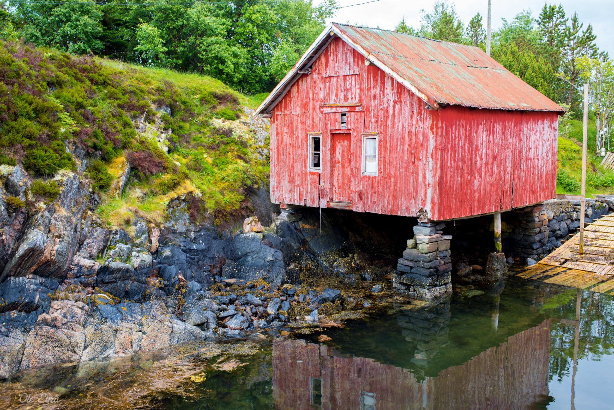 Old Boat House by Ole Morten Eyra