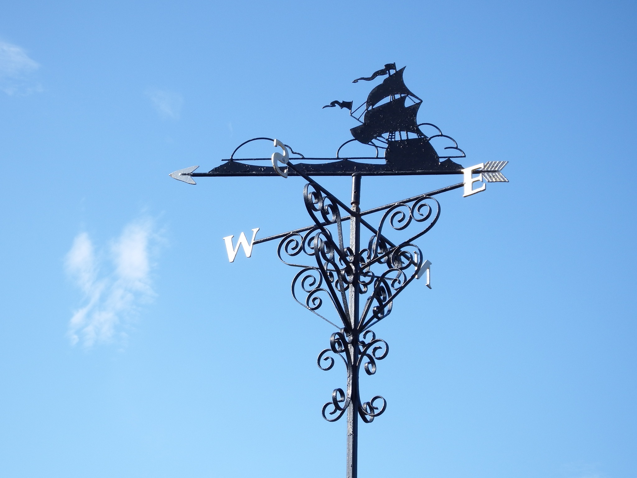 sailing ship weather vane lews castle college by kenneth campbell