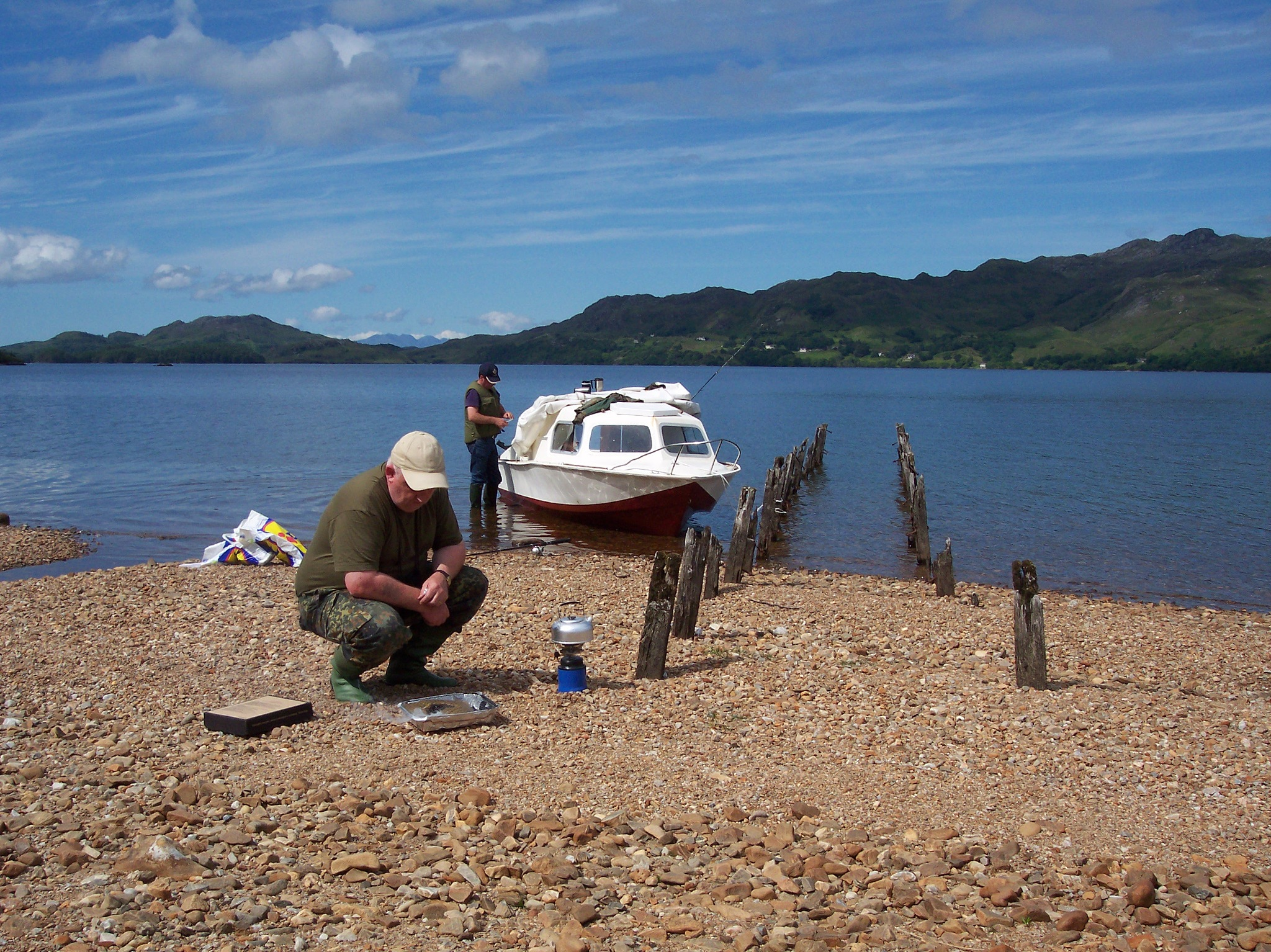 getting the barbecue ready loch morar by kenneth campbell