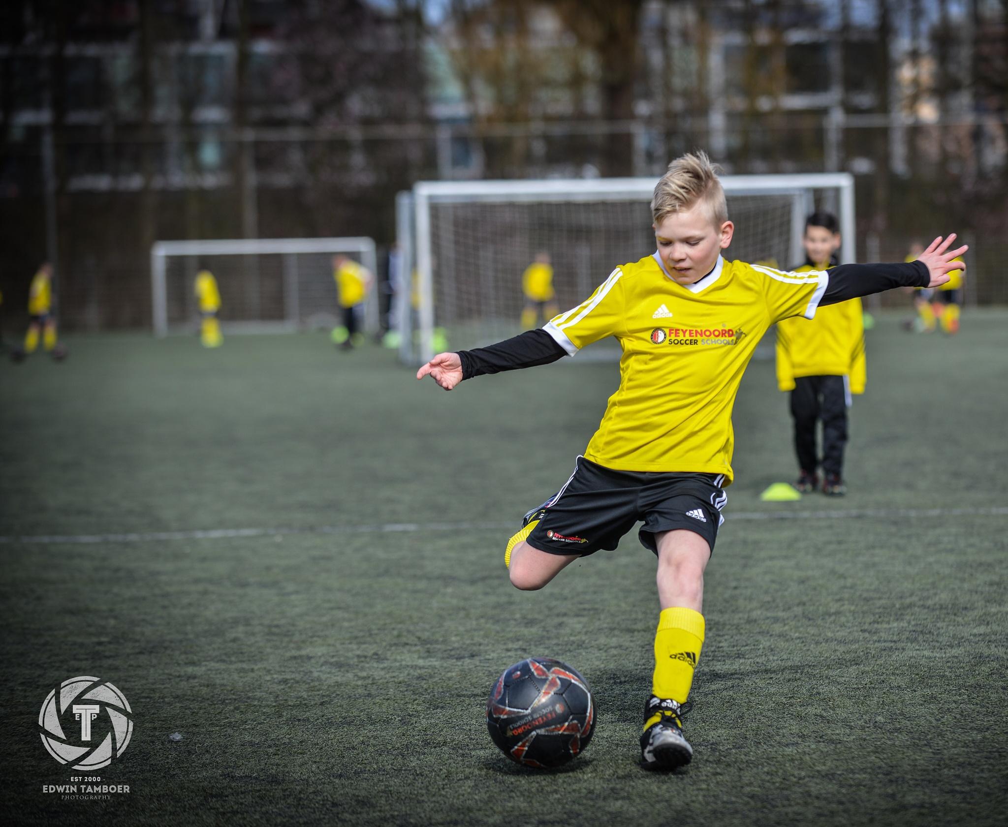 My son @talenttraining @Feyenoordsoccerschools by Edwin Tamboer fotografie