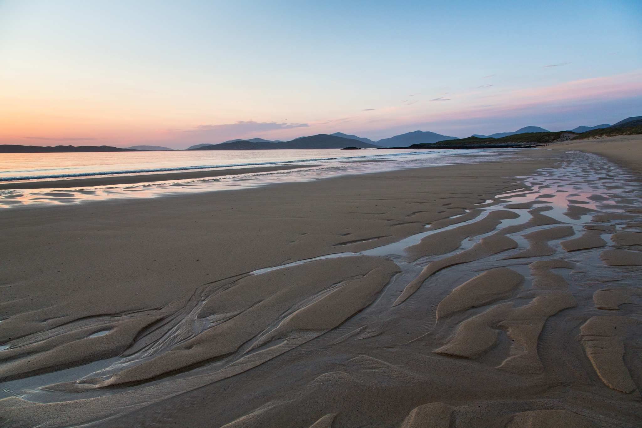 Photo in Sea and Sand #empty beach #borve #isle of harris #outer hebrides #scotland #sand #sea #sunset