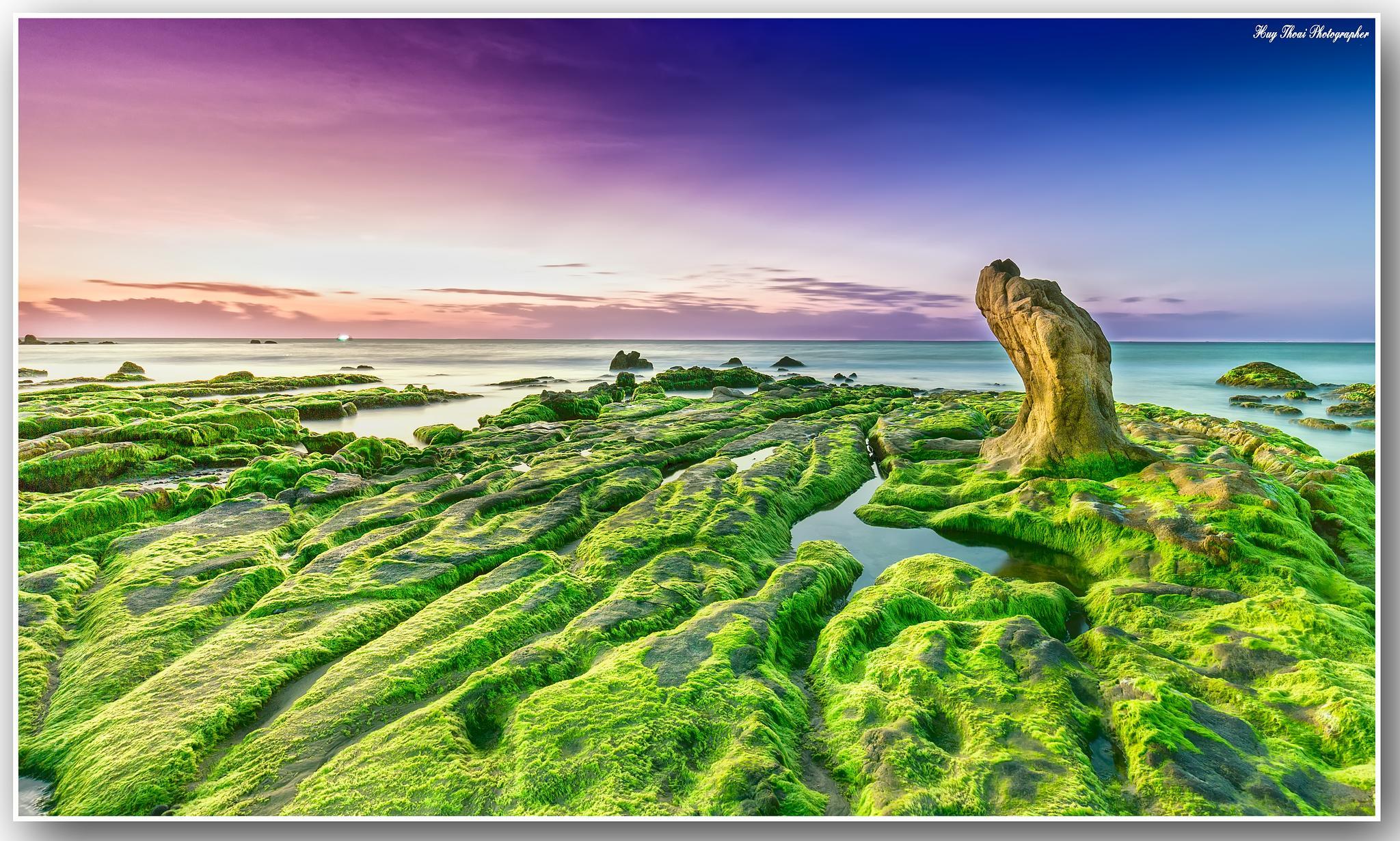 mossy stone deck by huythoai